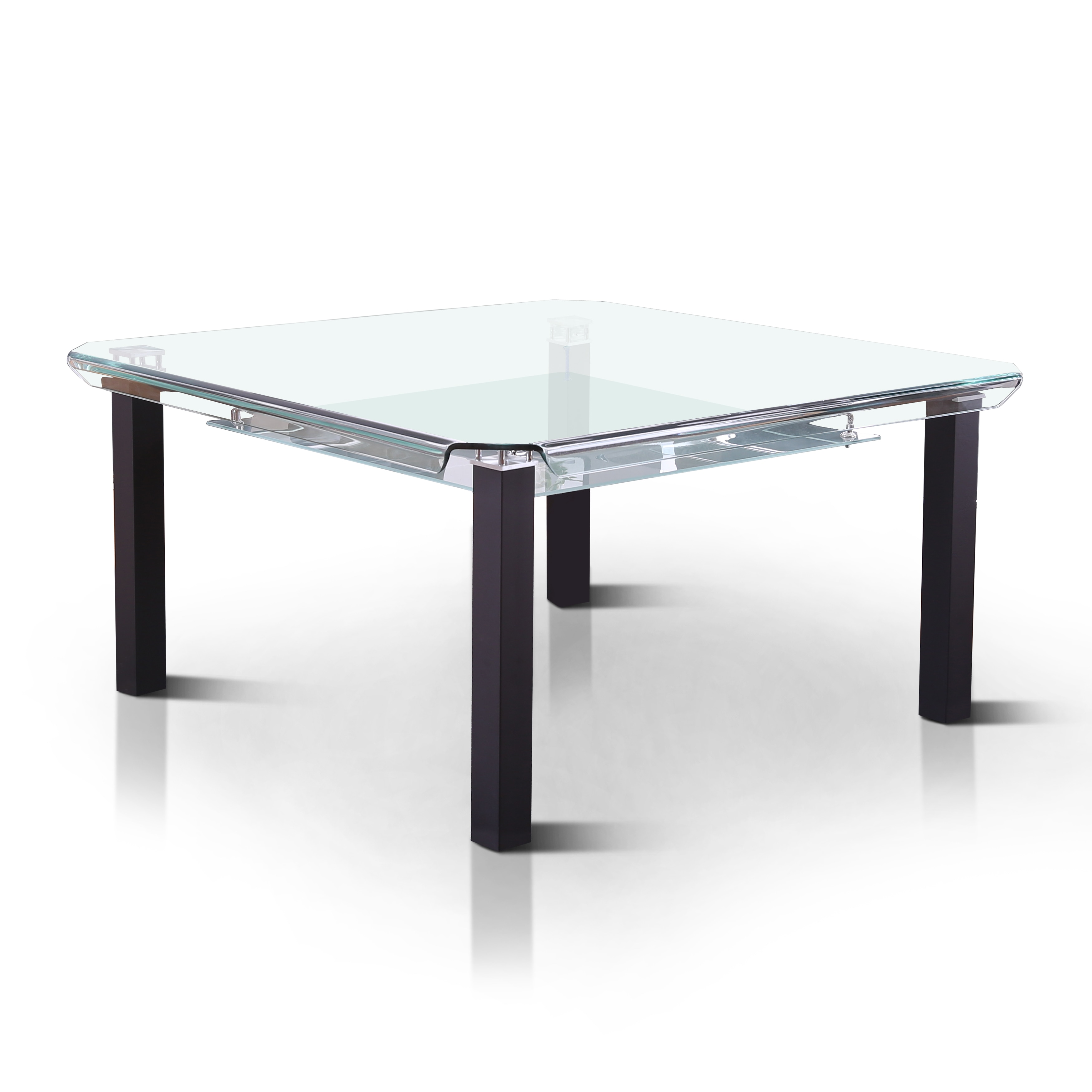Furniture Of America Kell Contemporary Square Tempered Gl Top Dining Table Black On Free Shipping Today 12521475