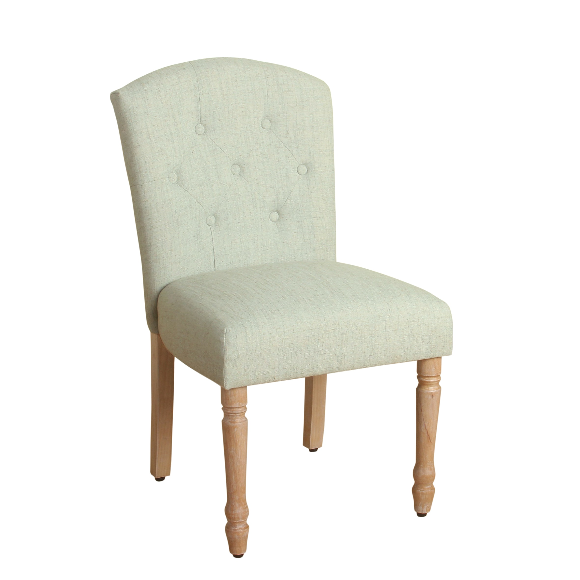 Homepop Delilah Button Tufted Dining Chair Pale Blue Single