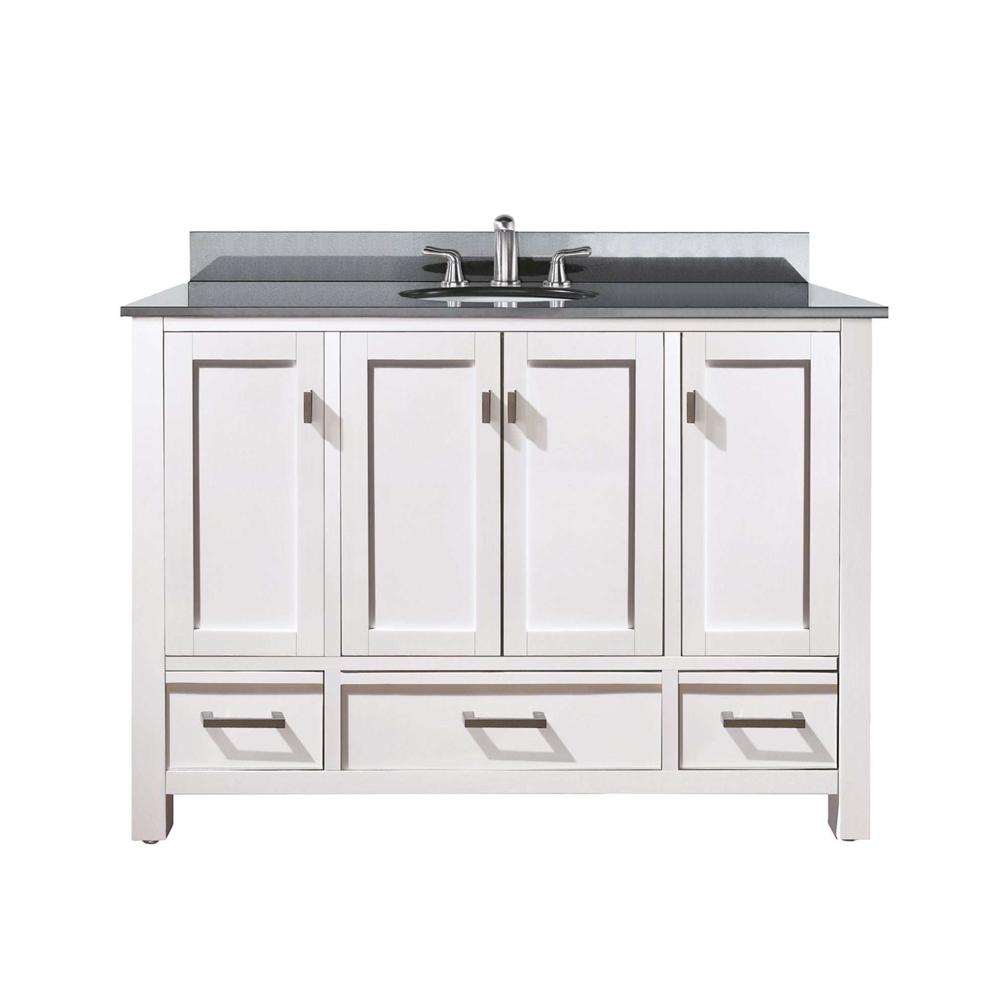Avanity Modero 48 Inch White Finish Vanity Combo Free Shipping Today 12532327