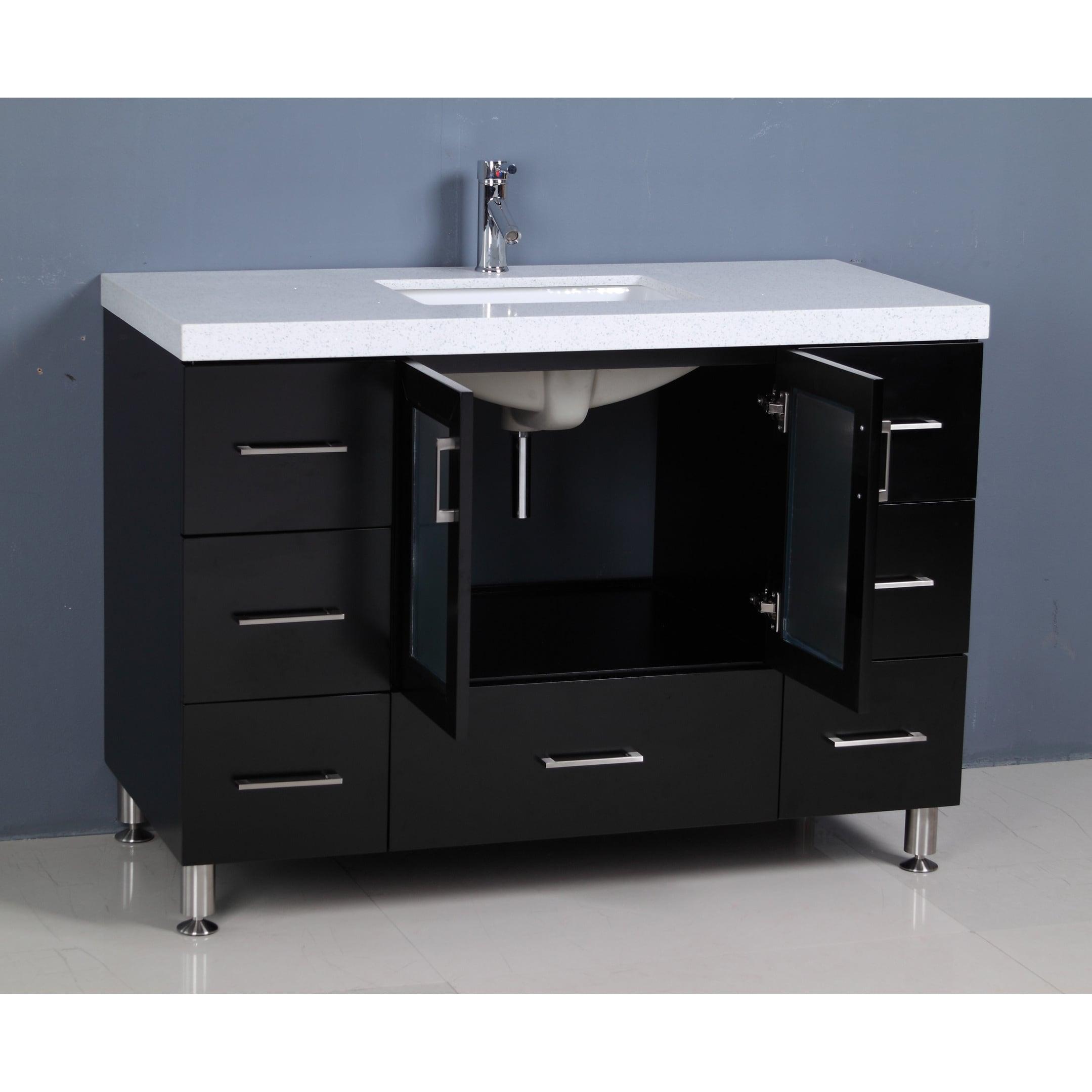 Shop Design Element Westfield 48 Inch Quartz Espresso Single Sink