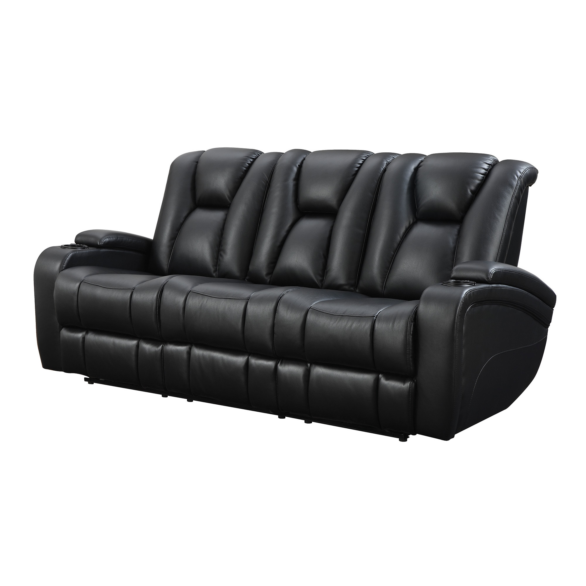 Stupendous Coaster Company Black Leatherette Power Recliner Motion Sofa Home Interior And Landscaping Palasignezvosmurscom