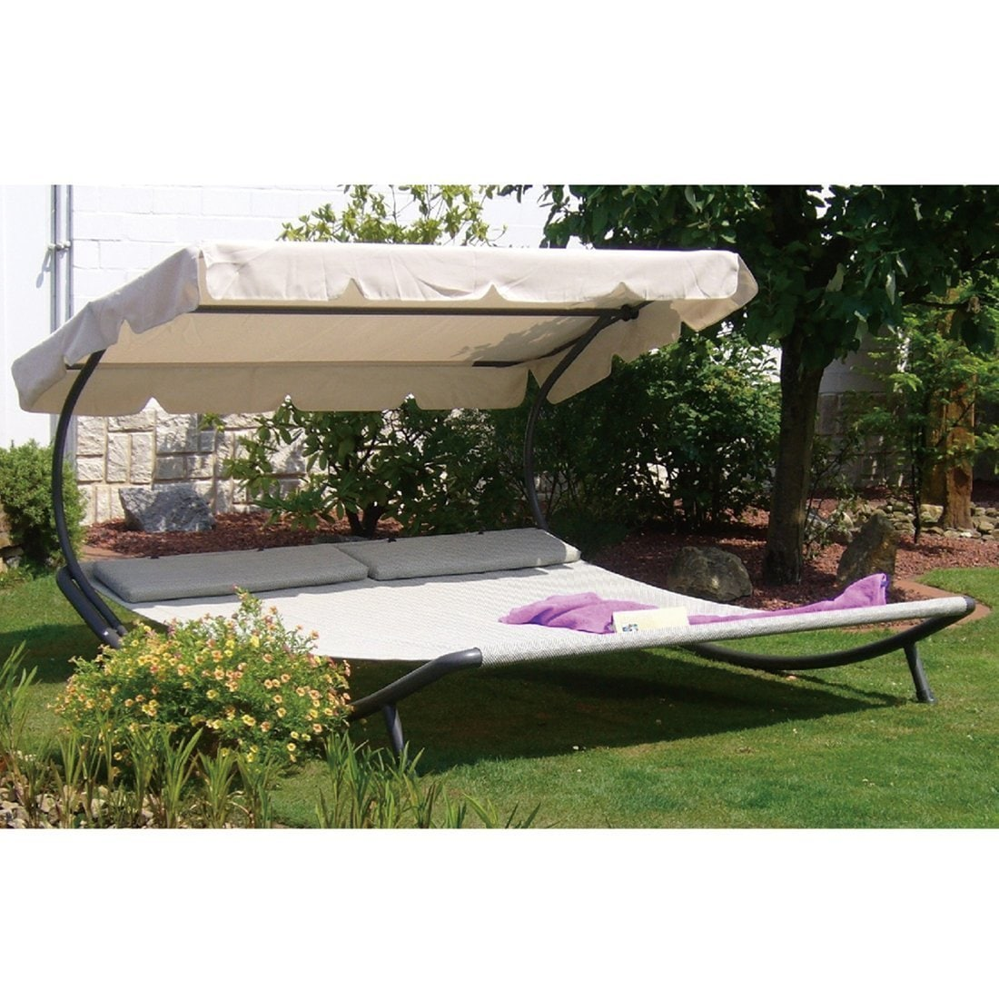 with hammock sorara living gondola portable cover green shade shop outdoor