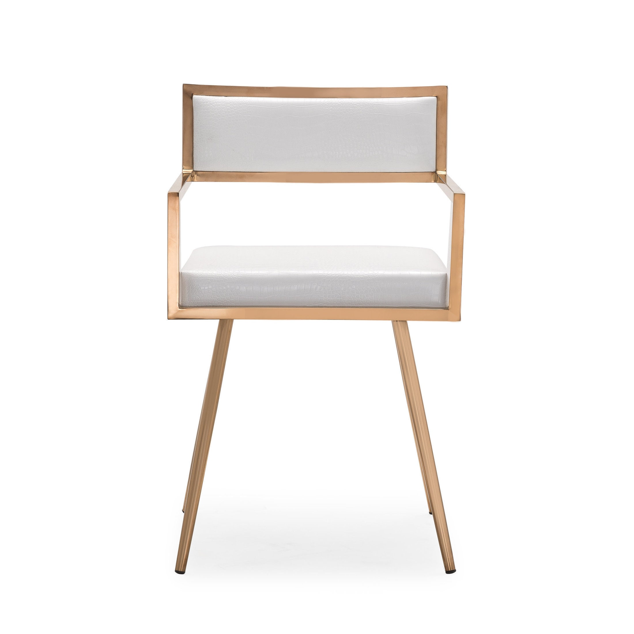 Shop Marquee Mid Century Modern White Accent Chair Set Of 2 Free