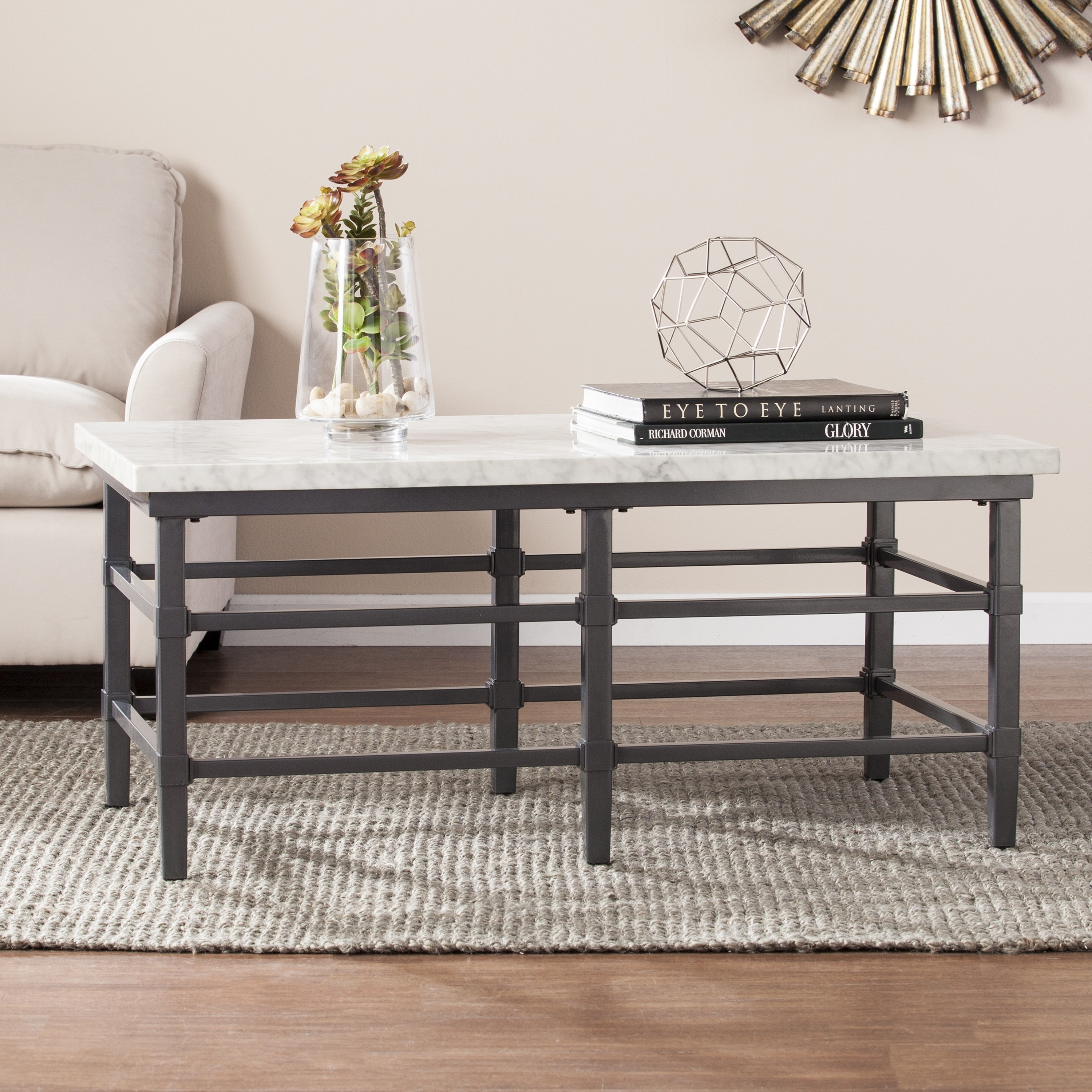 Harper Blvd Timmons Faux Marble Coffee Cocktail Table Free
