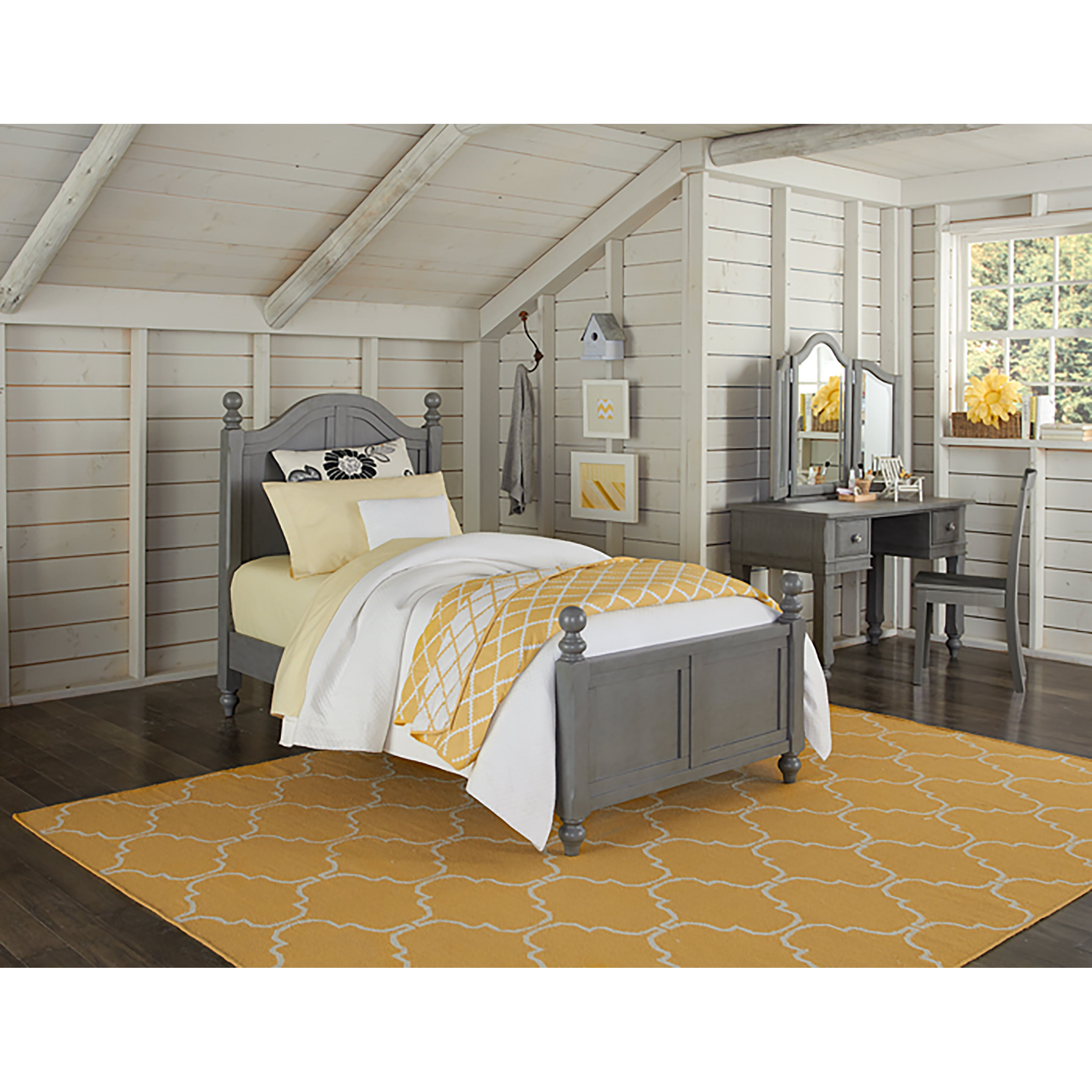 Lake House Payton Twin-size Stone Grey Arch Bed - Free Shipping ...