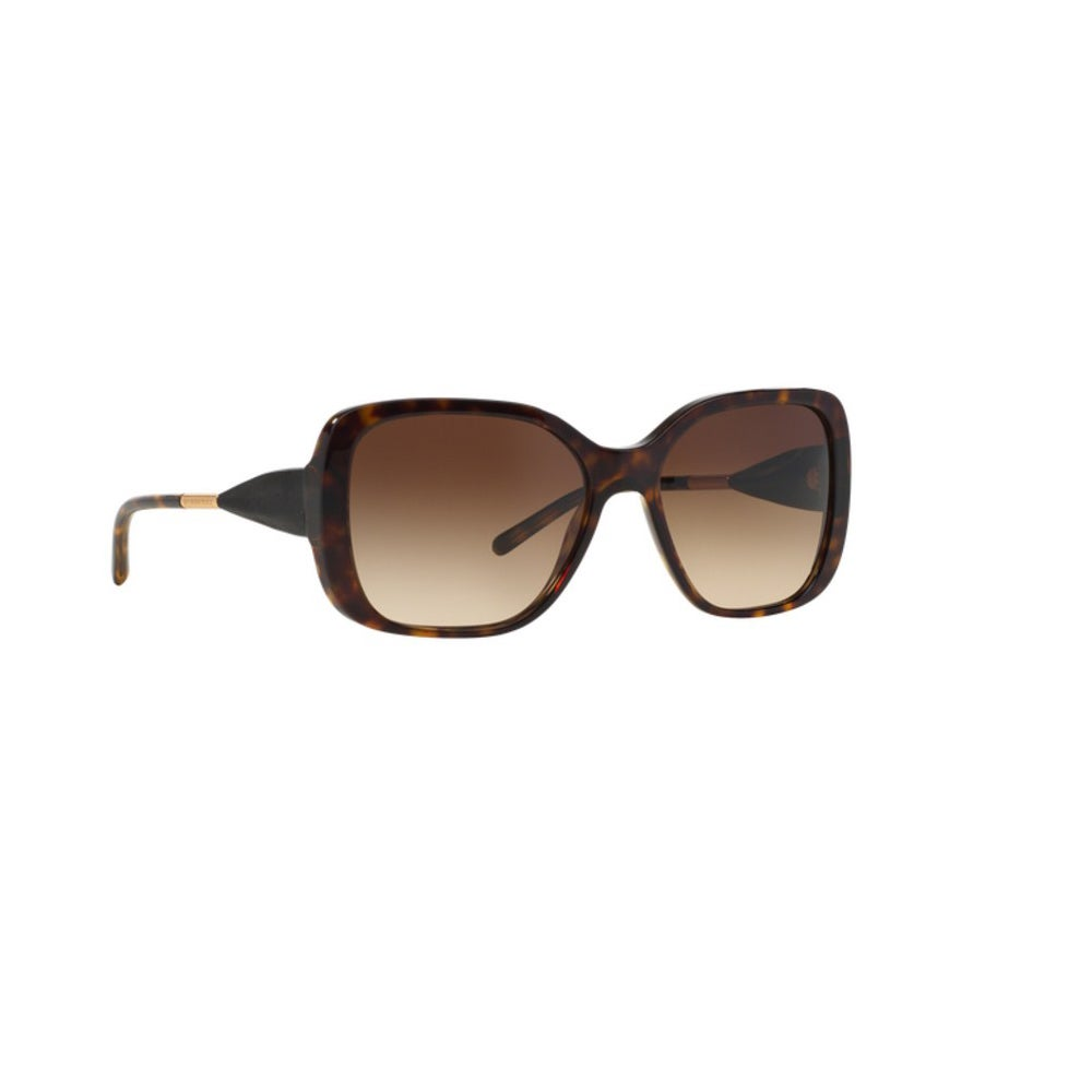 bfa0cd0057550 Shop Burberry Women s BE4192 300213 Dark Havana Plastic Square Sunglasses w   56mm Lens - Free Shipping Today - Overstock - 12554539