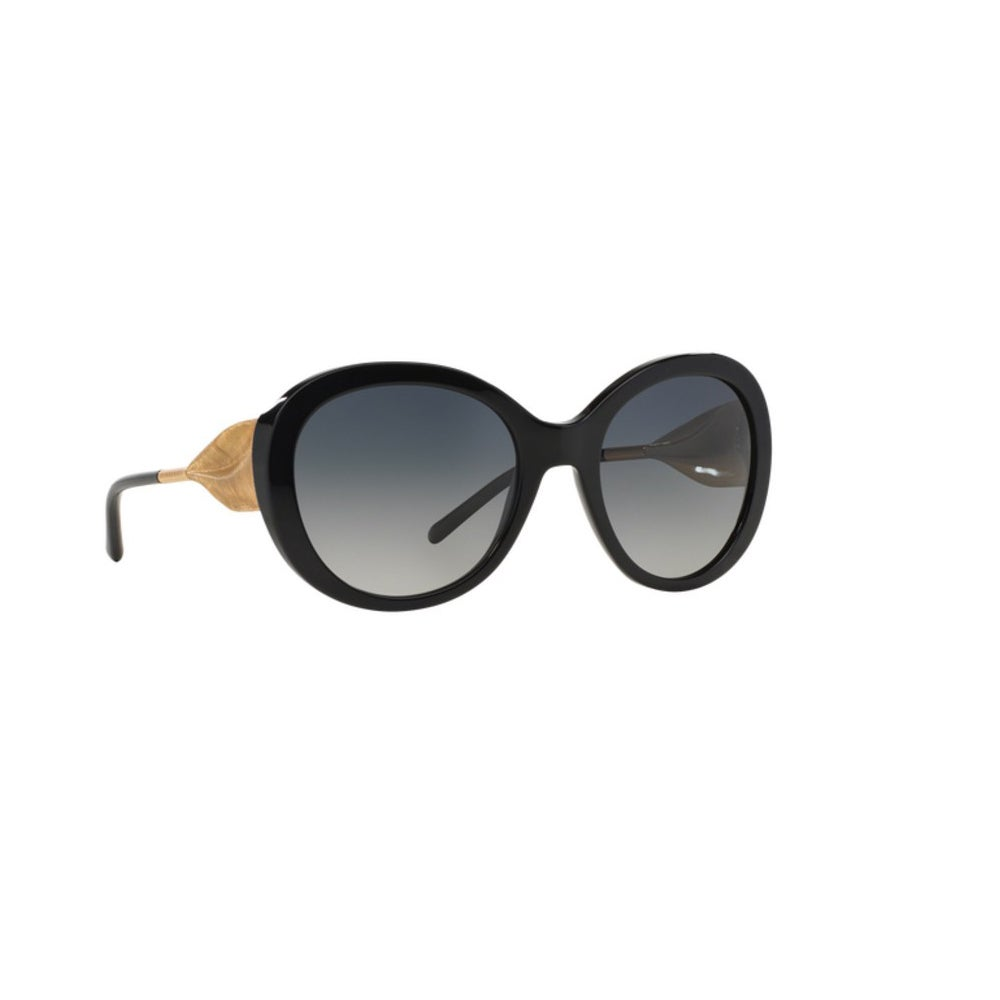 29c48bb1cff67 Shop Burberry Women s BE4191 3001T3 Black Plastic Round Sunglasses w  57mm  Lens - Free Shipping Today - Overstock - 12554564