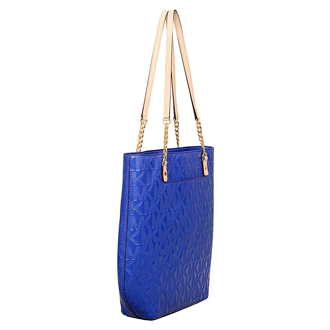 c6bbf396f2f99f Shop Michael Kors Signature Leather Jet Set NS Chain Tote Bag - Free  Shipping Today - Overstock - 12554633