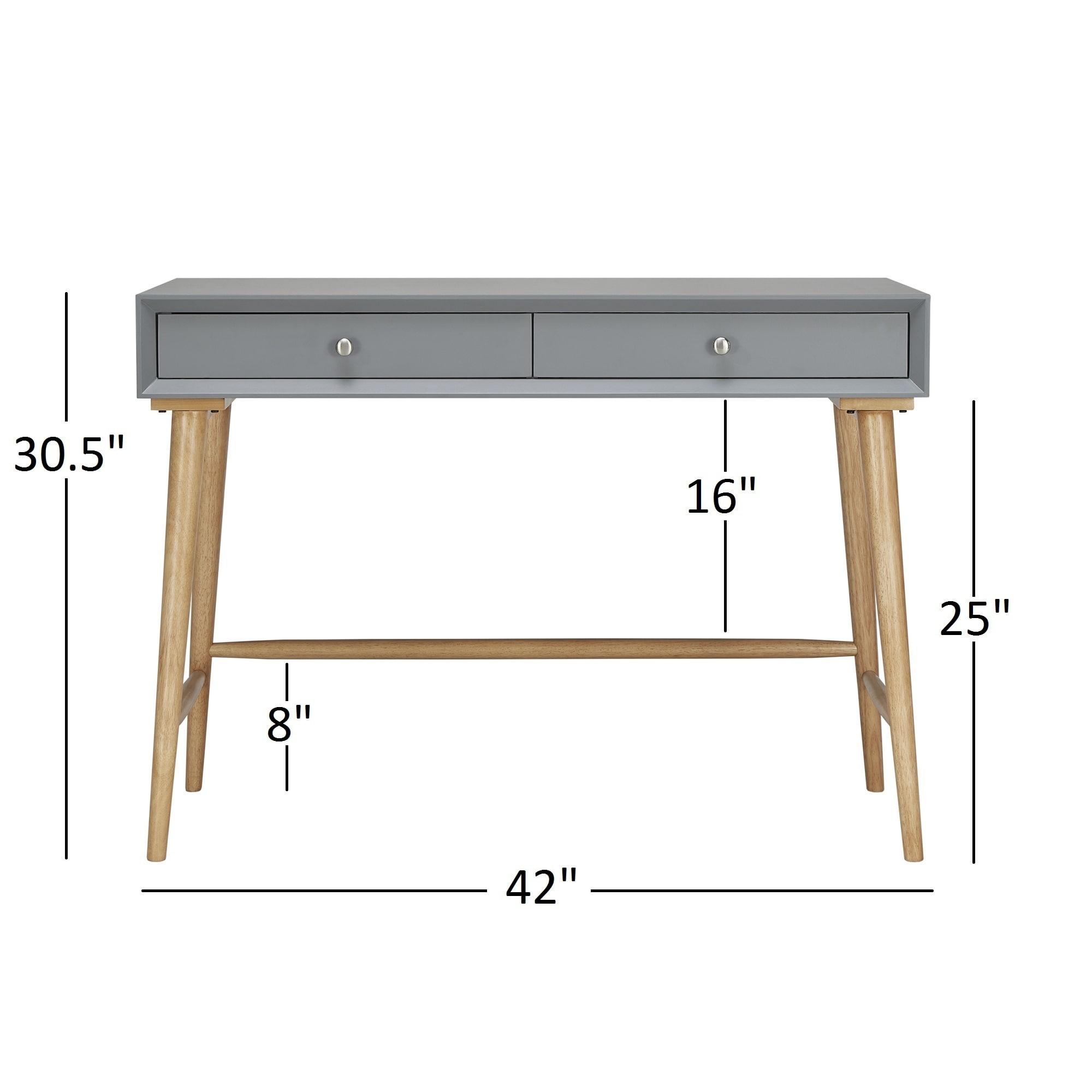 Marin Danish Modern 2-drawer Writing Desk iNSPIRE Q Modern - Free Shipping  Today - Overstock.com - 19355497