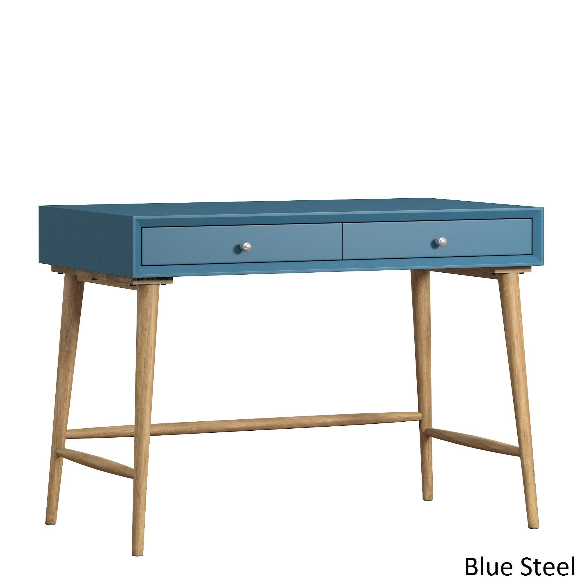 Marin Danish Modern 2-drawer Writing Desk iNSPIRE Q Modern - Free Shipping  Today - Overstock.com - 19355497