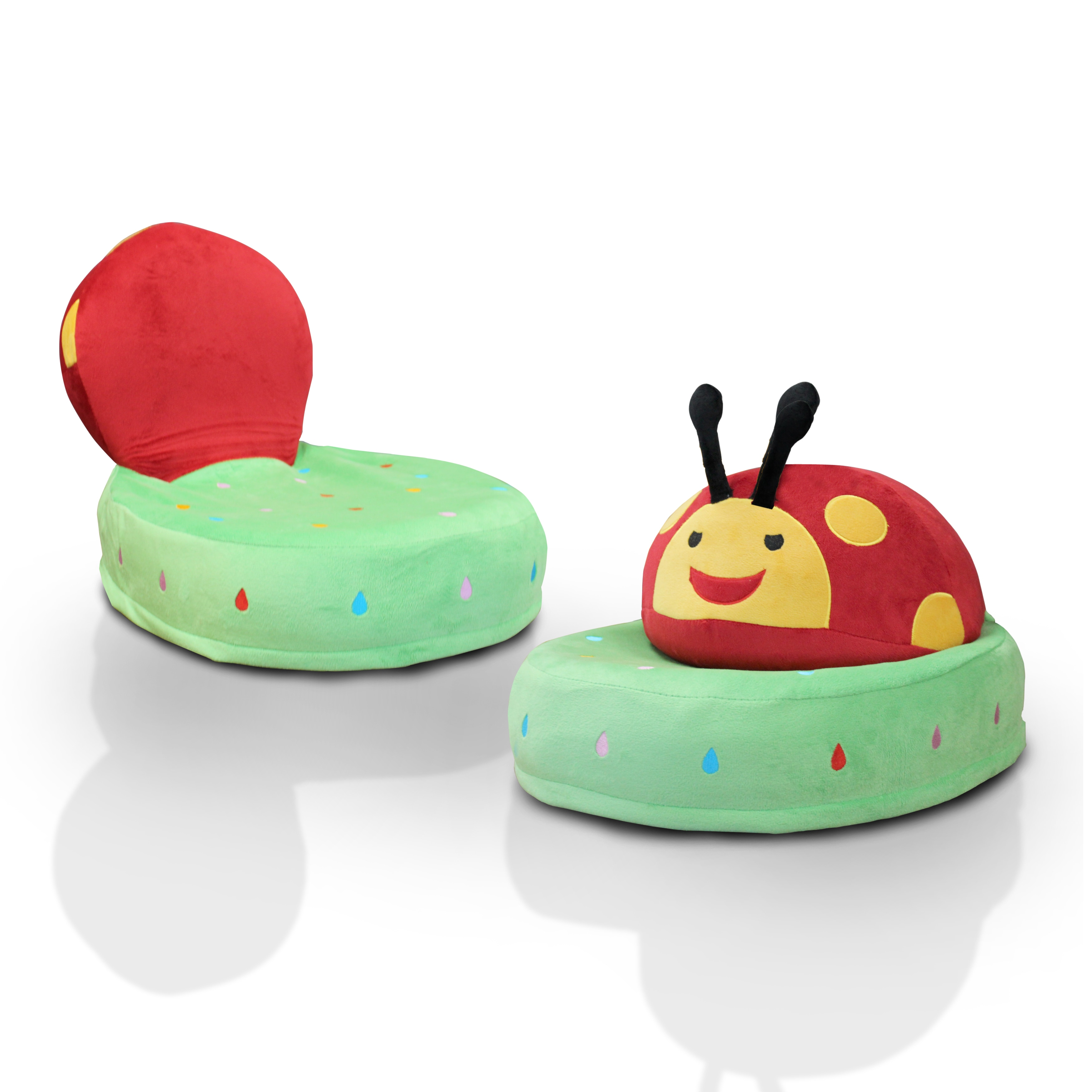 Furniture Of America Critter Crew Plush Microfiber Themed Folding Kids Chair    Free Shipping Today   Overstock.com   19355534