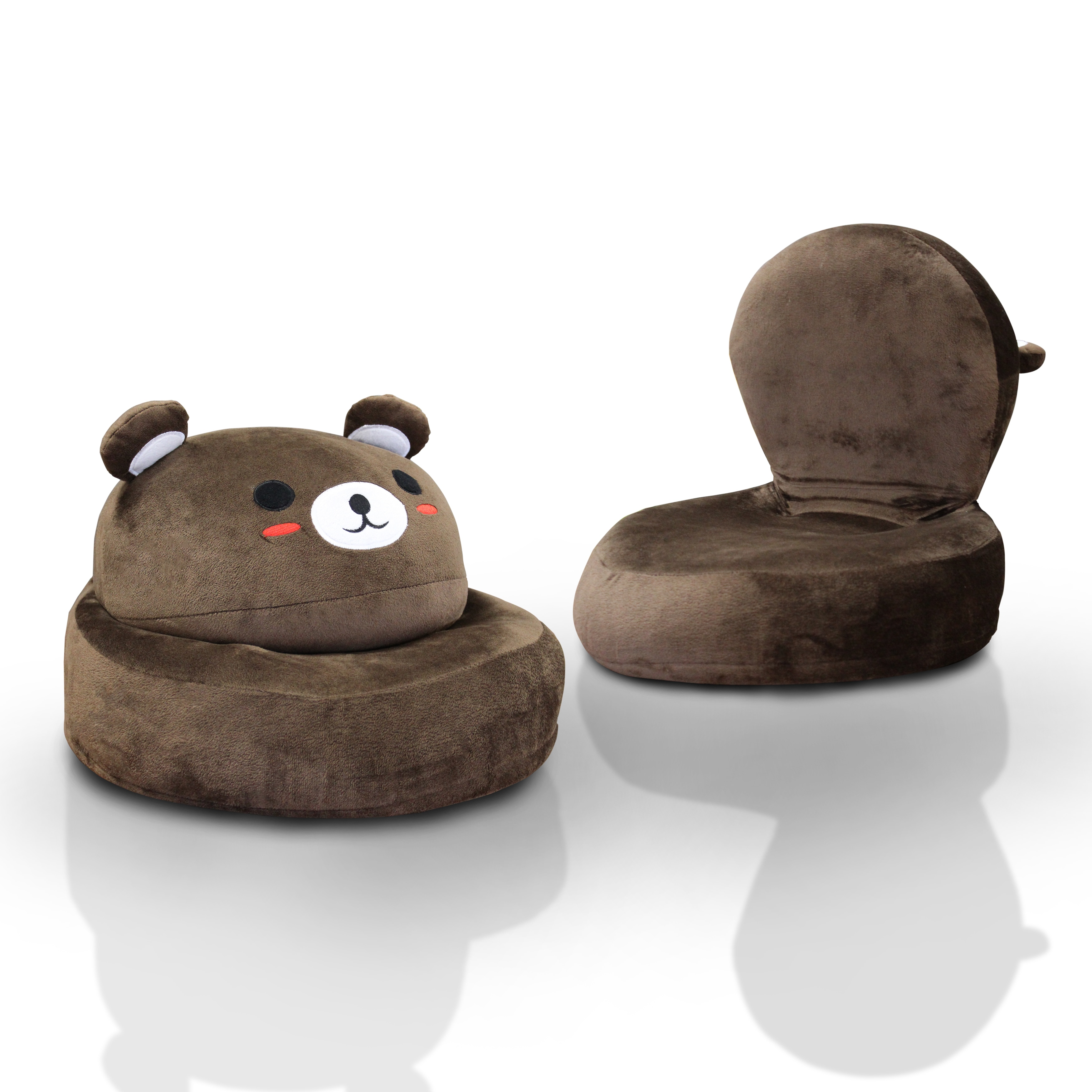 Shop Furniture Of America Critter Crew Plush Microfiber Themed Folding Kids  Chair   Free Shipping Today   Overstock.com   12554772