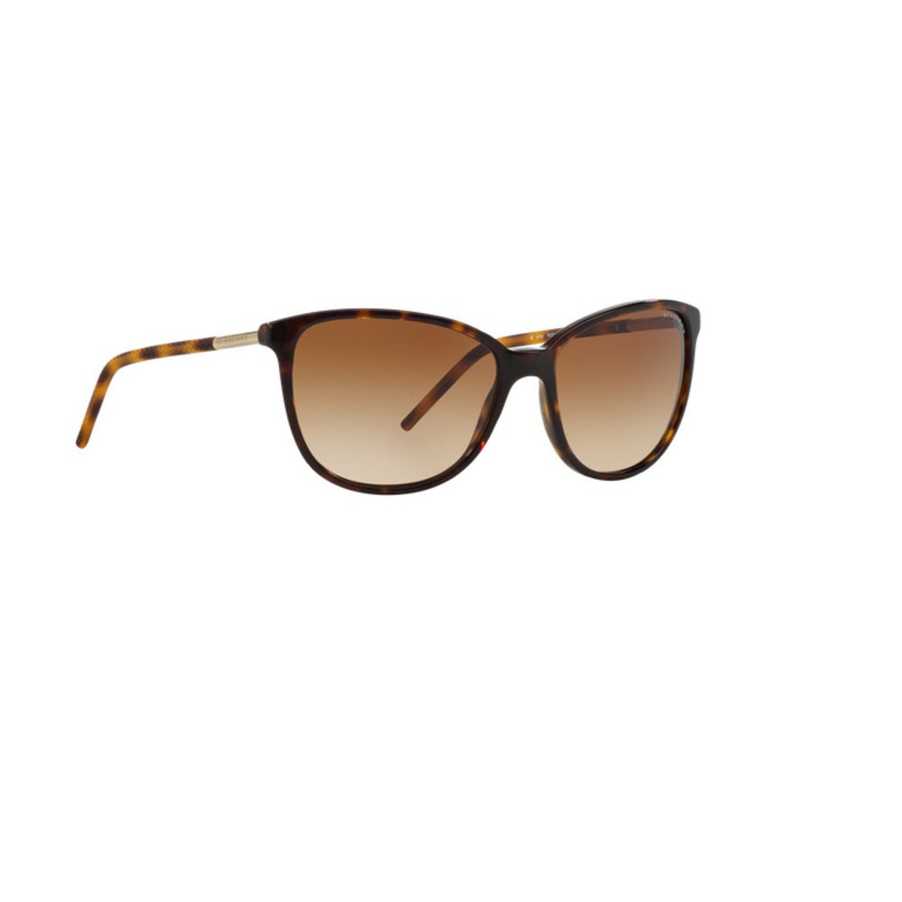 d81fee3b13ef Shop Burberry Women s BE4180 300213 Dark Havana Plastic Cat Eye Sunglasses  w  57mm Lens - Free Shipping Today - Overstock - 12554784