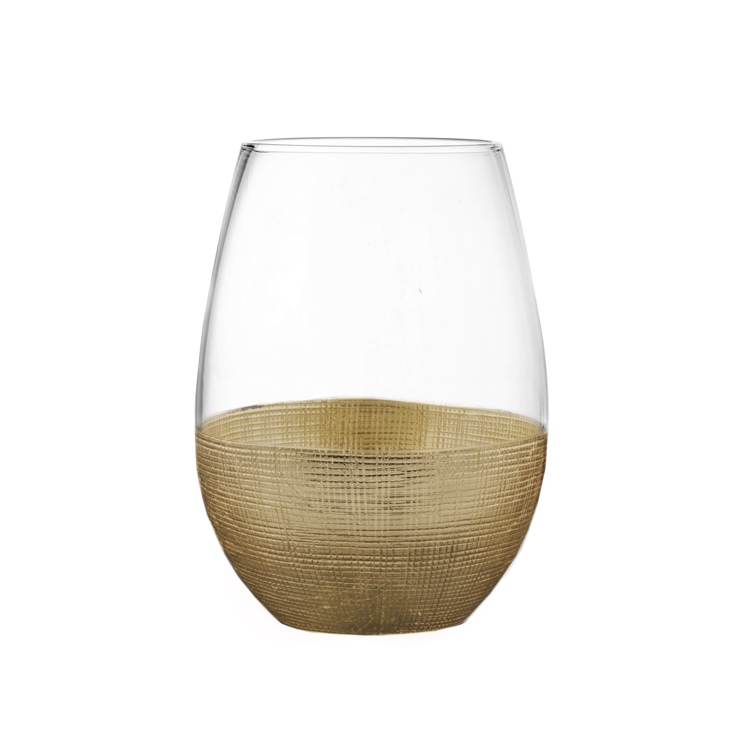 a1e83b9dbea Fitz Floyd Linen Wrapped Stemless Glasses (Set of 4)
