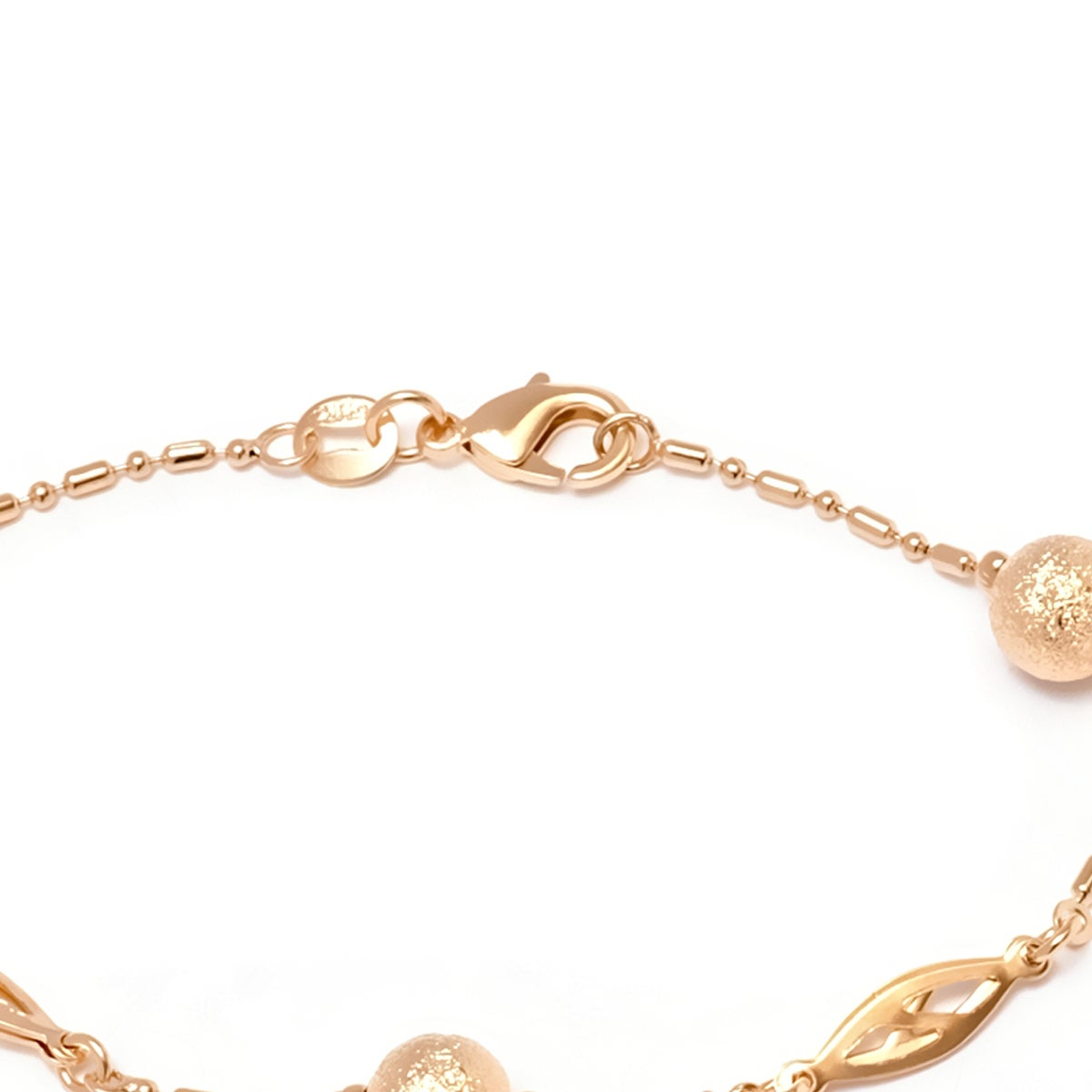 c88dd702dfefcf Shop Gold-plated Diamond-crushed Ball Bead Bracelet - Gold - Free Shipping  On Orders Over $45 - Overstock - 12555292