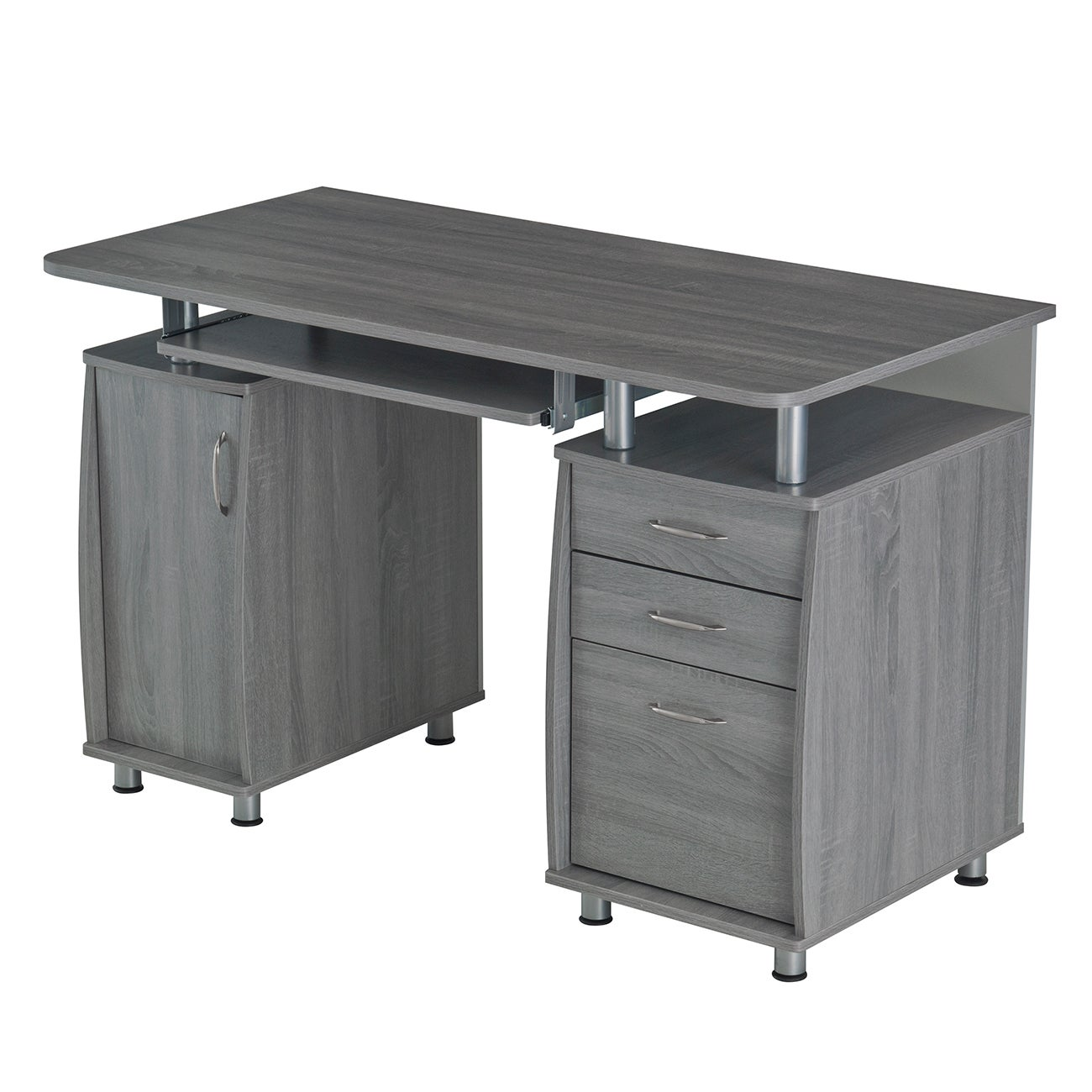 Modern Designs Grey Mdf Multifunctional Office Desk With File Cabinet Free Shipping Today 12556250