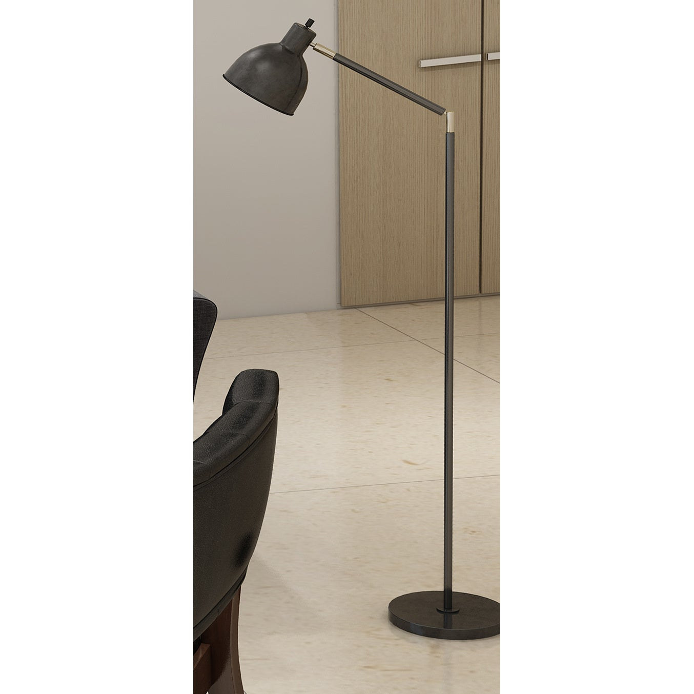 Tensor Black Brass/Metal 54.5 Inch Articulating Antique Floor Lamp   Free  Shipping On Orders Over $45   Overstock.com   19357391