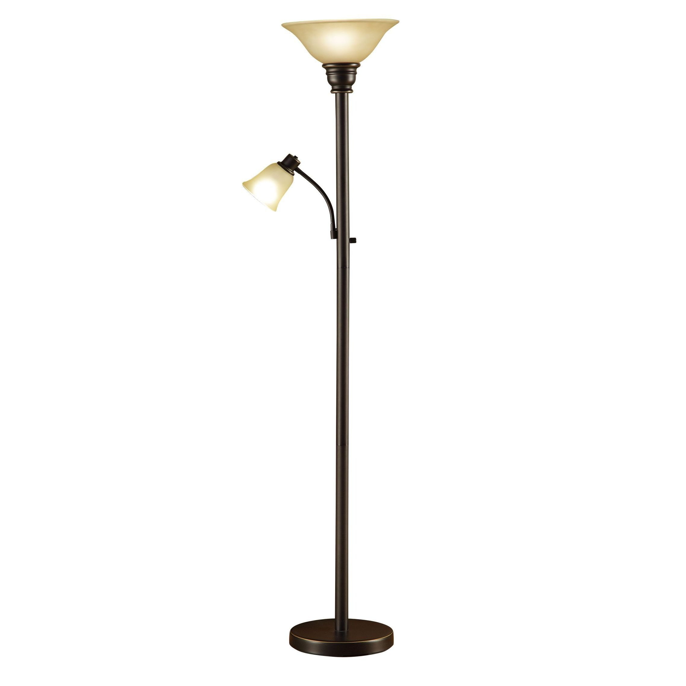 lowes for target style french sale rubbed empire slope oil lamp floors lamps with arm at bronze floor by