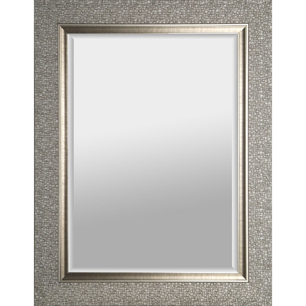 Hobbitholeco Mosaic Silvertone Rectangular Beveled Mirror - Free Shipping  Today - Overstock.com - 19357722