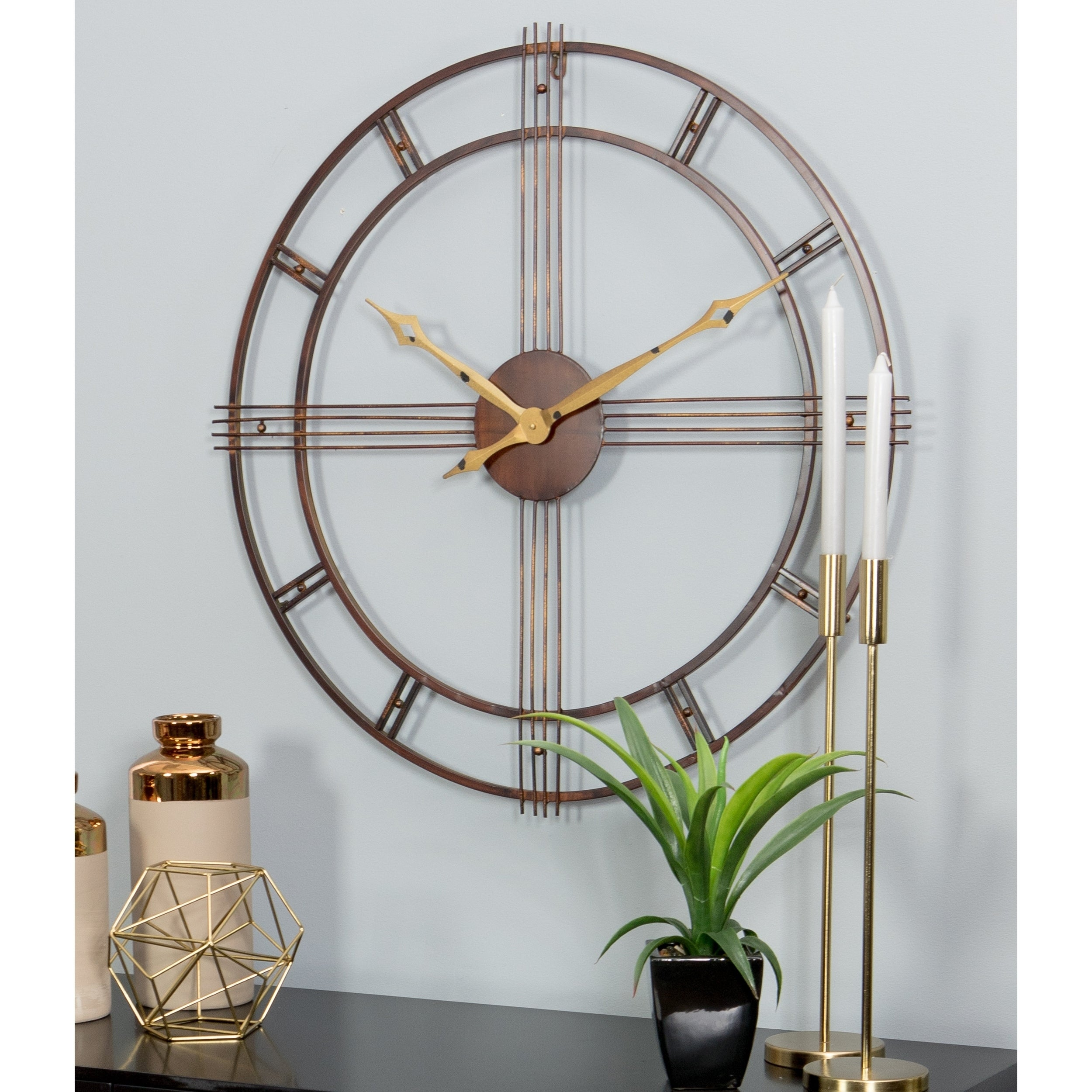 Shop rumi mid century wall clock free shipping today overstock com 12557431