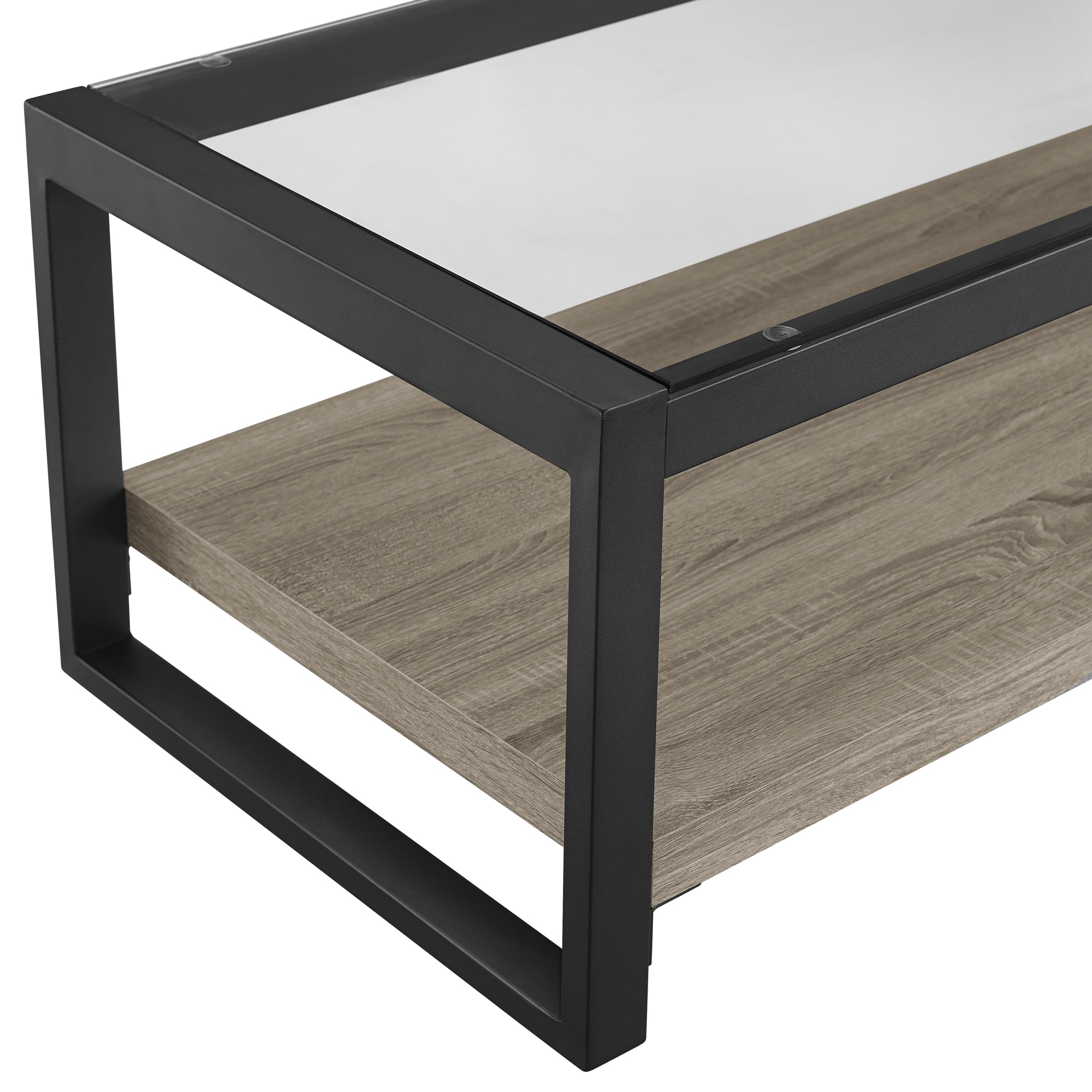 48 inch Urban Blend Coffee Table with Glass Top Free Shipping