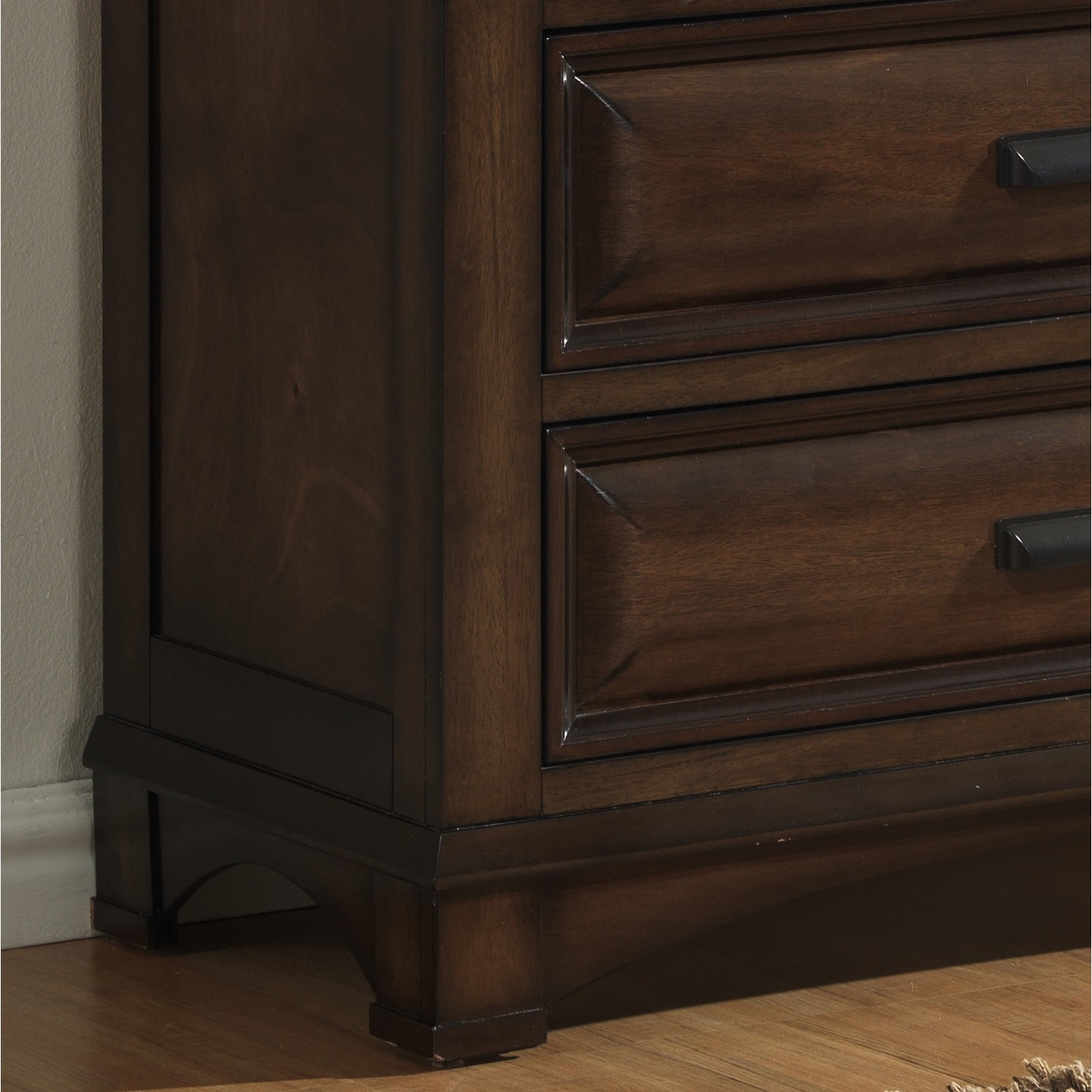 Shop roundhill furniture broval 179 light espresso finish wood 2 drawers night stand free shipping today overstock com 12594284
