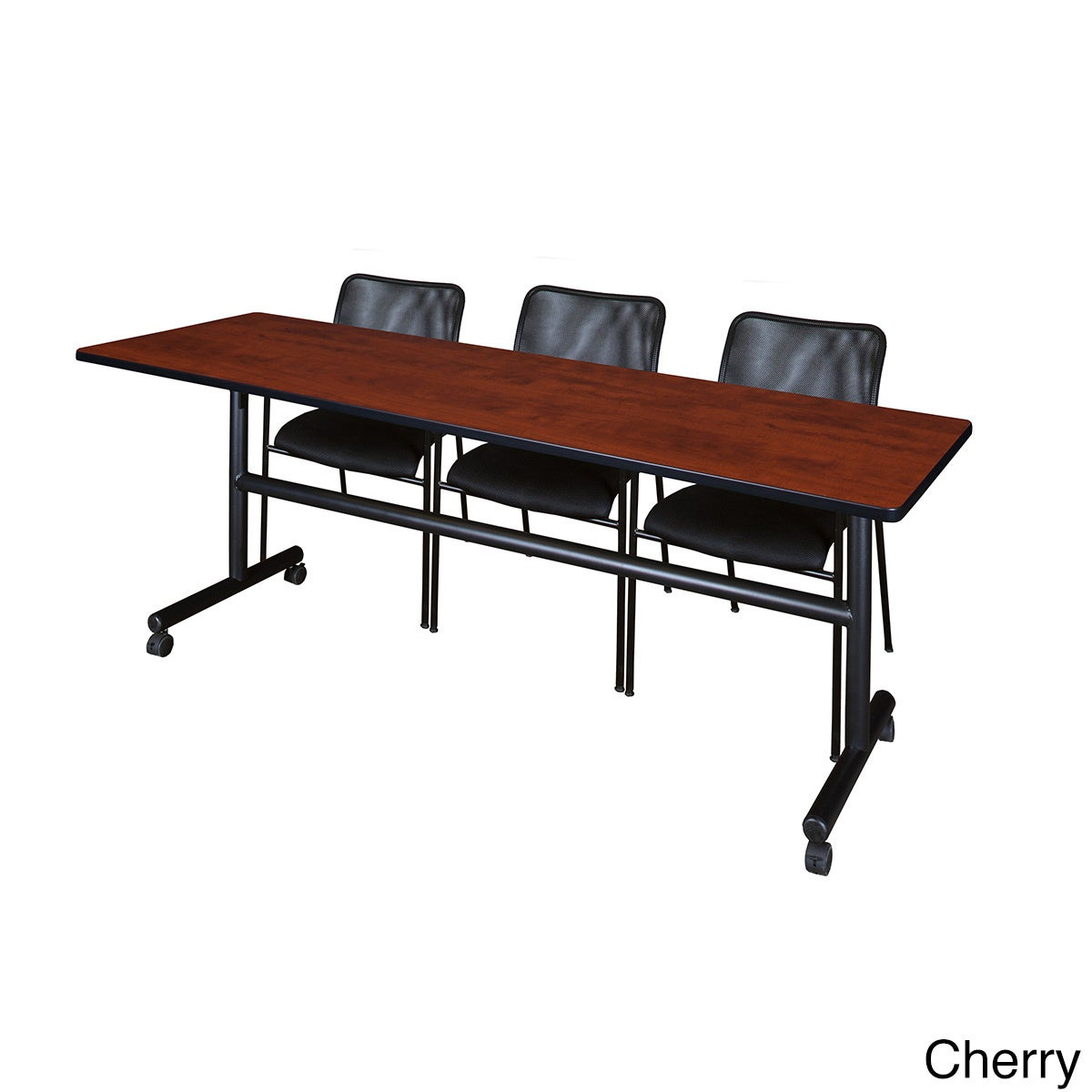 Shop Regency Seating Kobe Black Inch Fliptop Mobile Training - 84 inch conference table