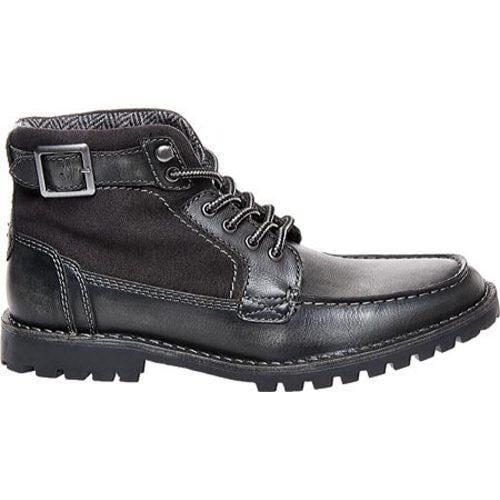 3c7e15599c0 Men's Steve Madden Nummero Moc Toe Boot Black Leather