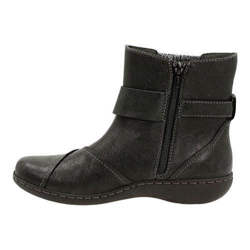 Women's Clarks Fianna Adley Ankle Boot Black Goat Corrected Full Grain  Leather - Free Shipping Today - Overstock.com - 19182489