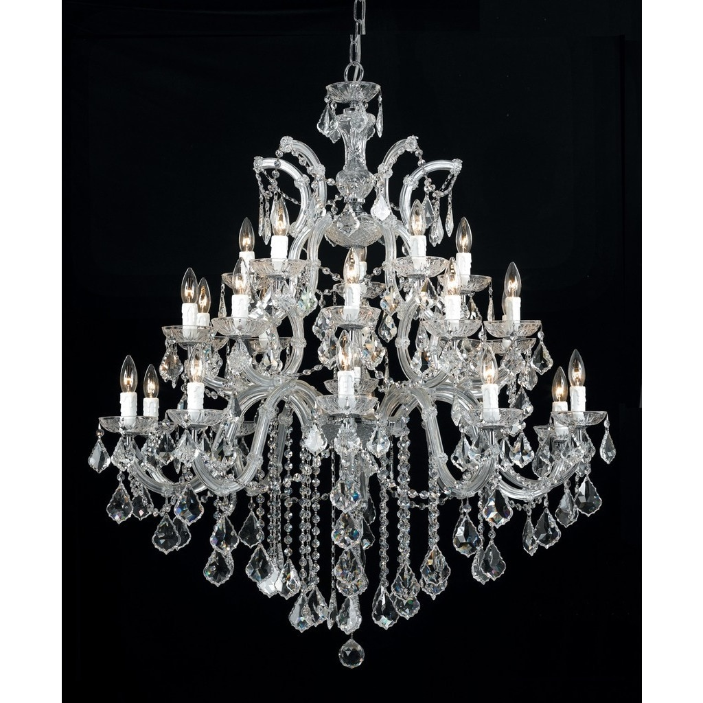 Crystorama maria theresa collection 26 light polished chrome crystorama maria theresa collection 26 light polished chromeswarovski spectra crystal chandelier free shipping today overstock 19398365 arubaitofo Gallery