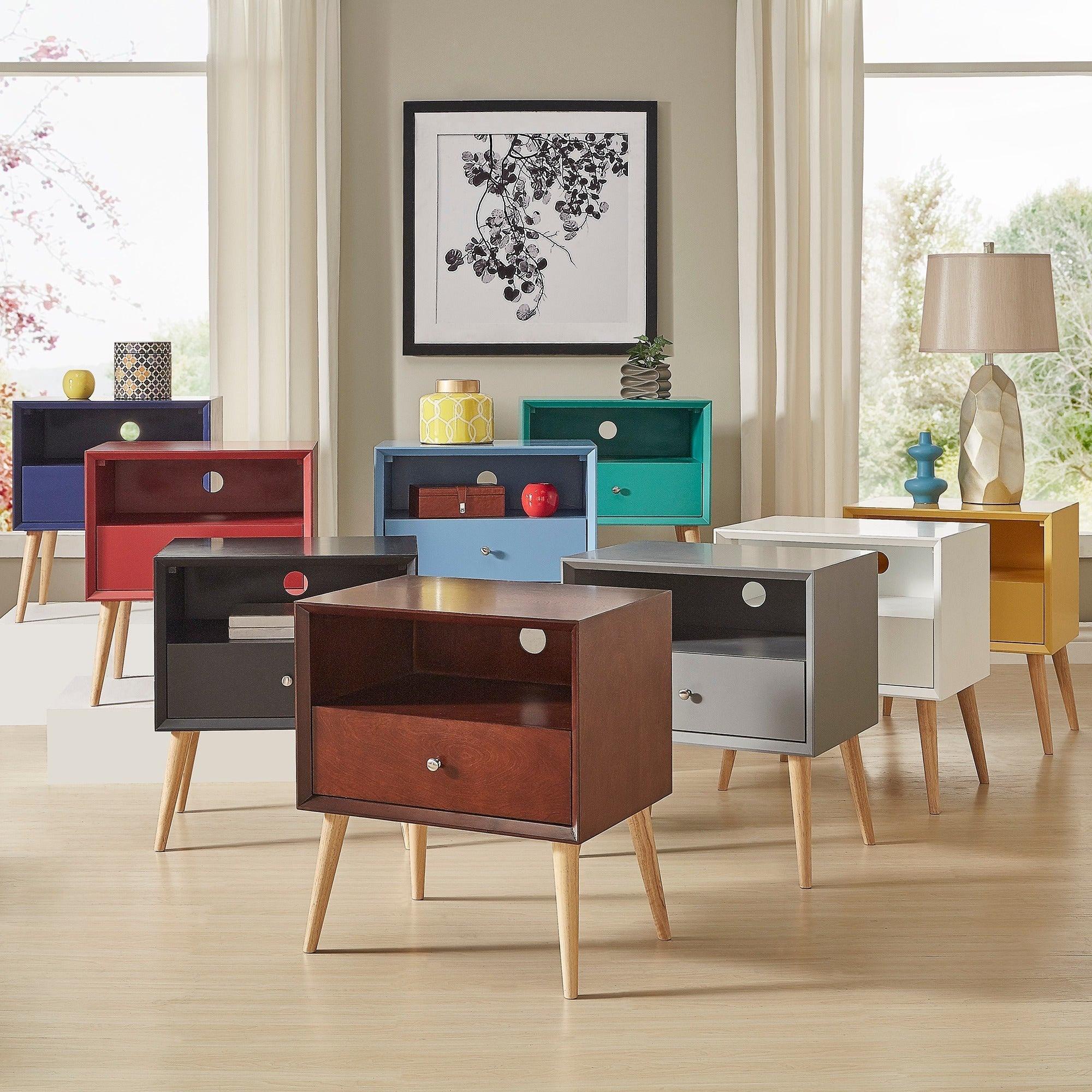 Marin Danish Modern 1-drawer Storage Accent Side Table iNSPIRE Q Modern -  Free Shipping Today - Overstock.com - 19400084