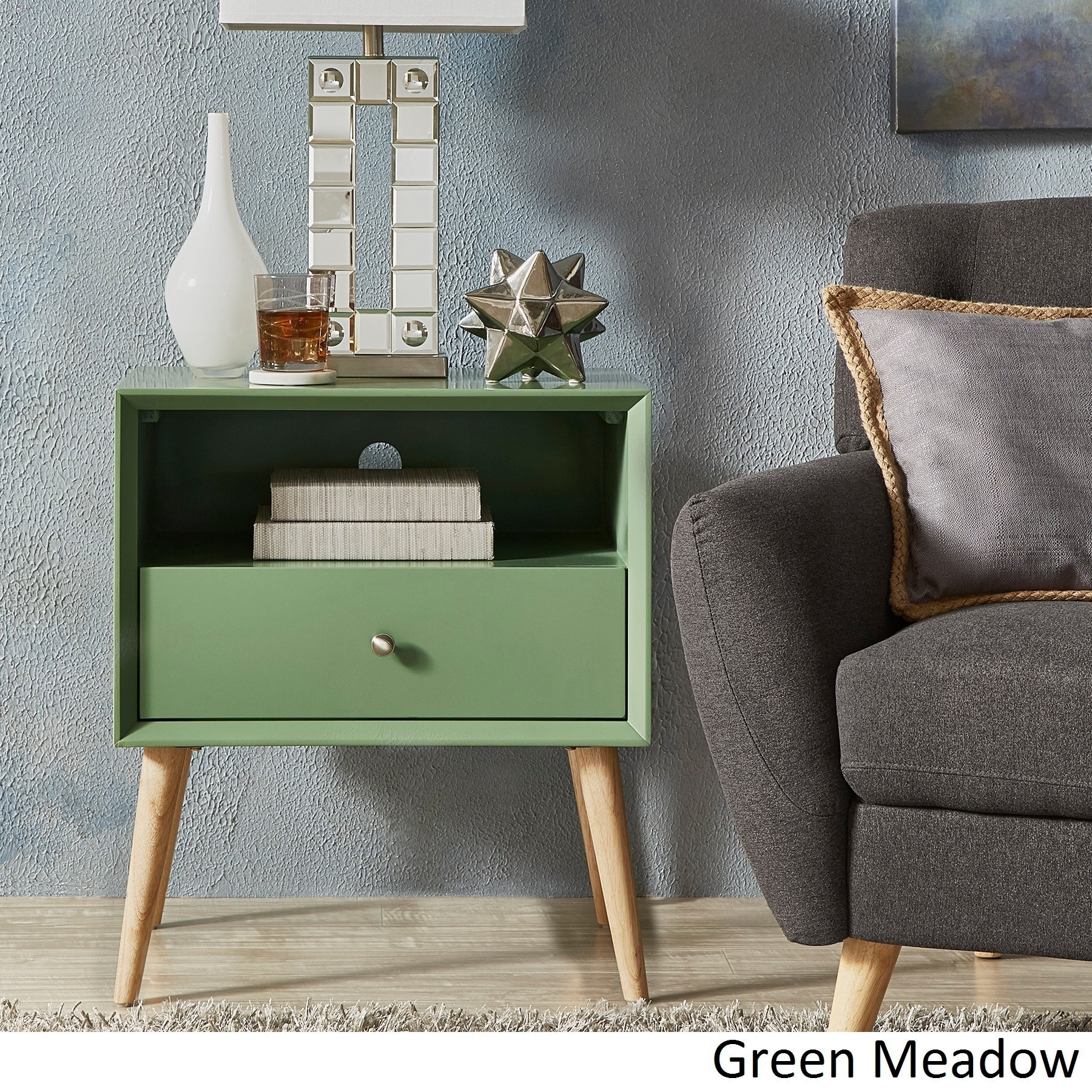 Marin Danish Modern 1-drawer Storage Accent Side Table iNSPIRE Q Modern -  Free Shipping