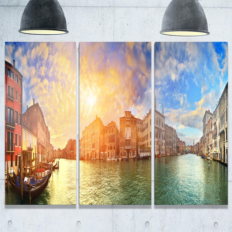Grand Canal Venice Panorama - Cityscape Glossy Metal Wall Art ...