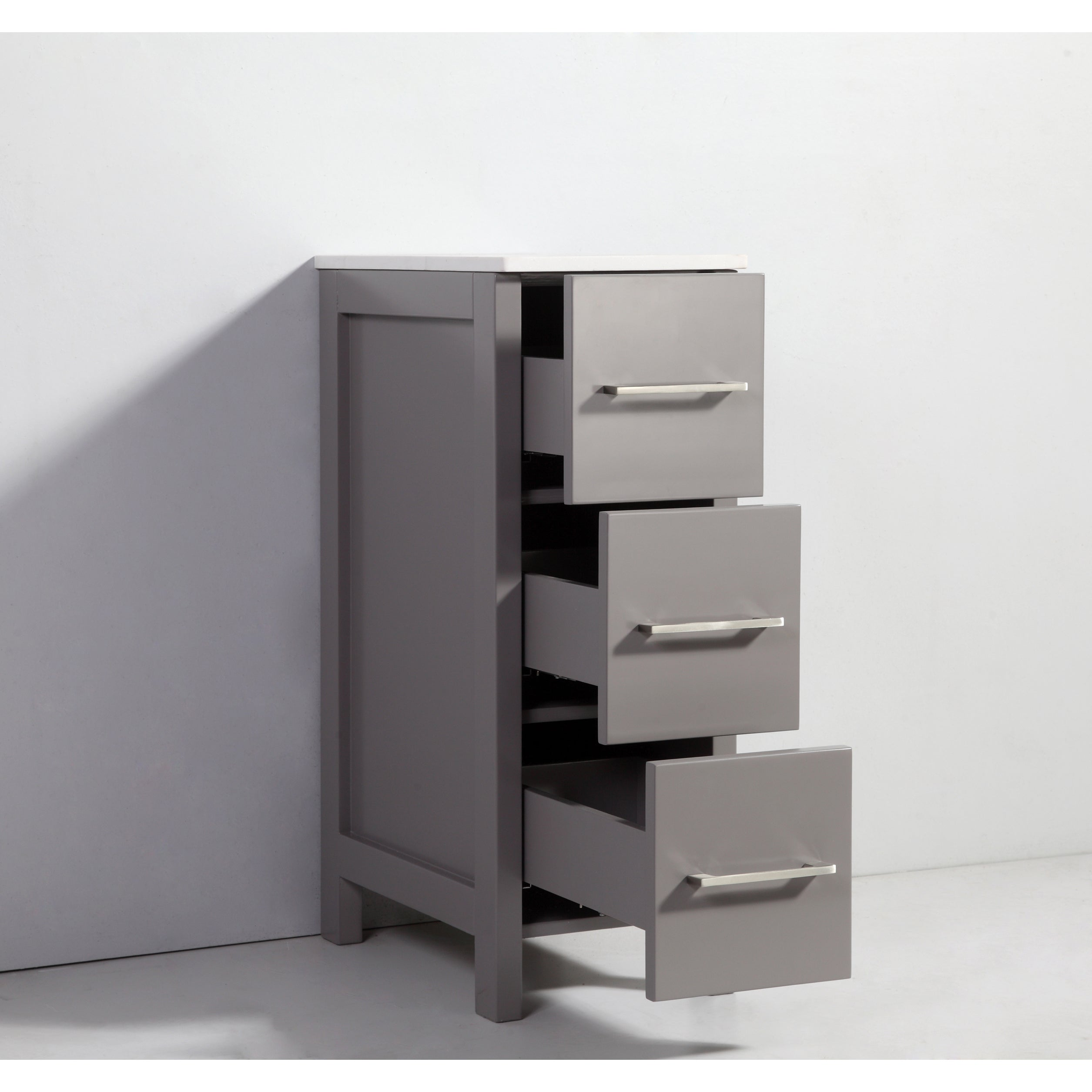 Shop Vanity Art Oak 12-inch Bathroom Vanity Cabinet With Ceramic Top ...