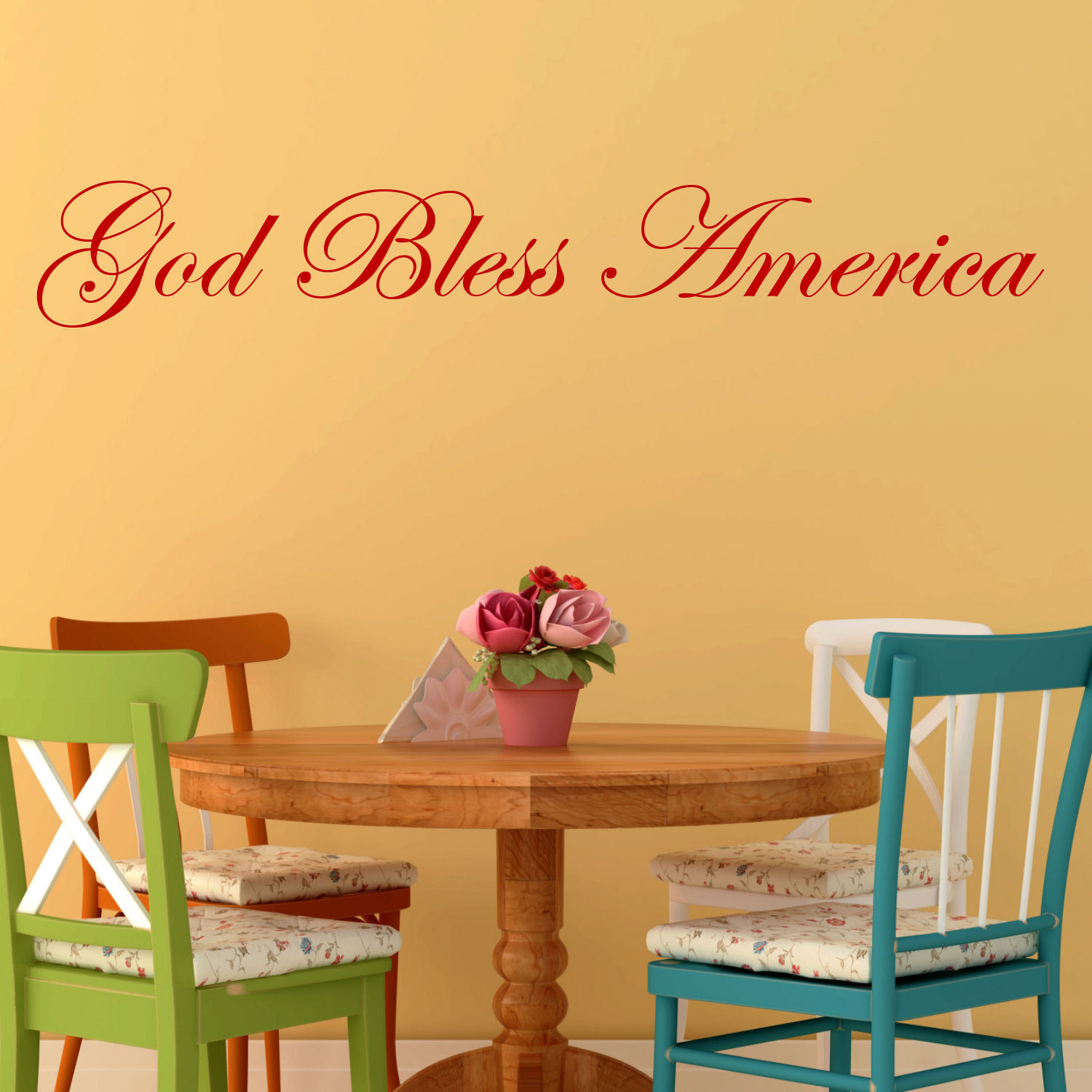 God Bless America\' Vinyl Wall Decal - Free Shipping On Orders Over ...