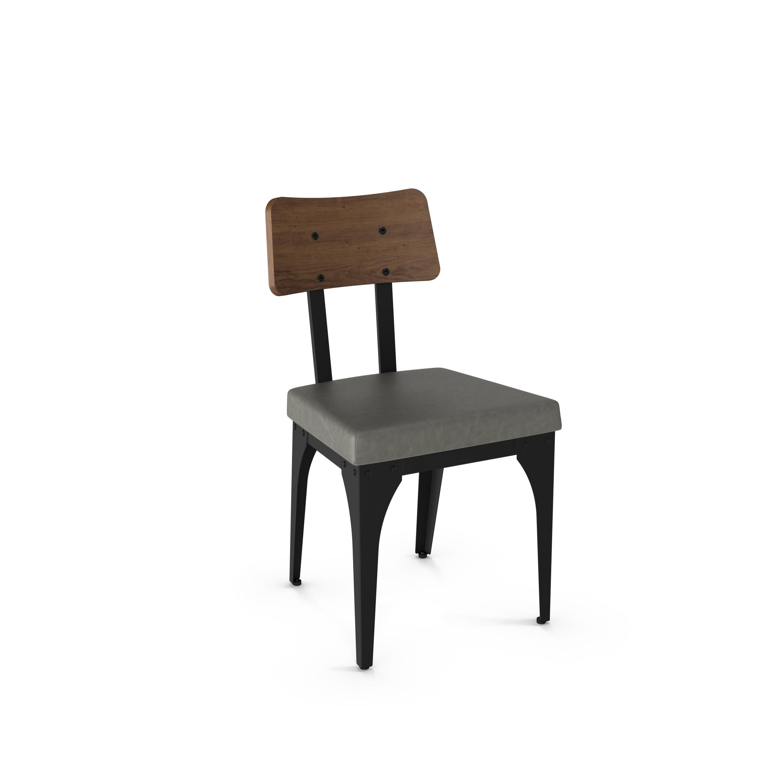 Carbon loft kettering upholstered chair with distressed wood backrest set of 2