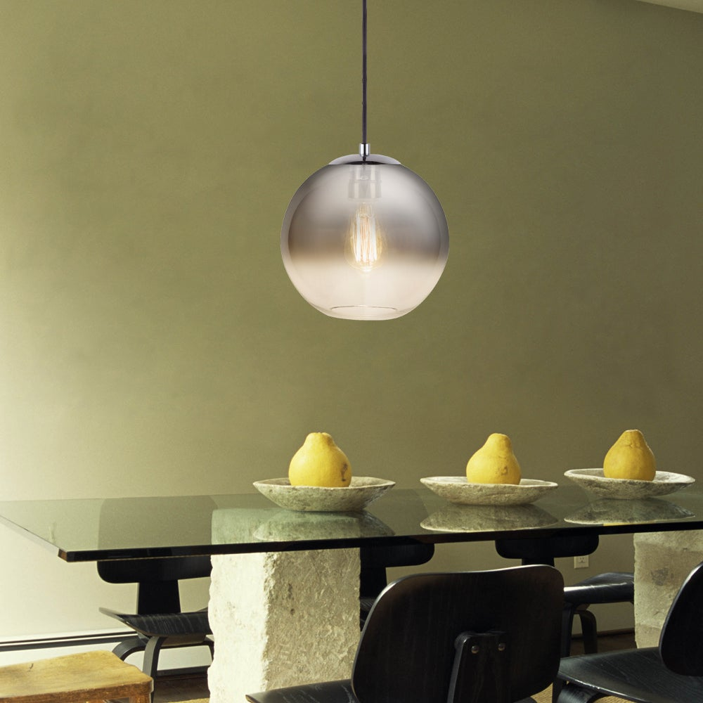 Shop Catalina 19966-000 Ombre Glass/Chrome 9-inch Orb Pendant Light ...