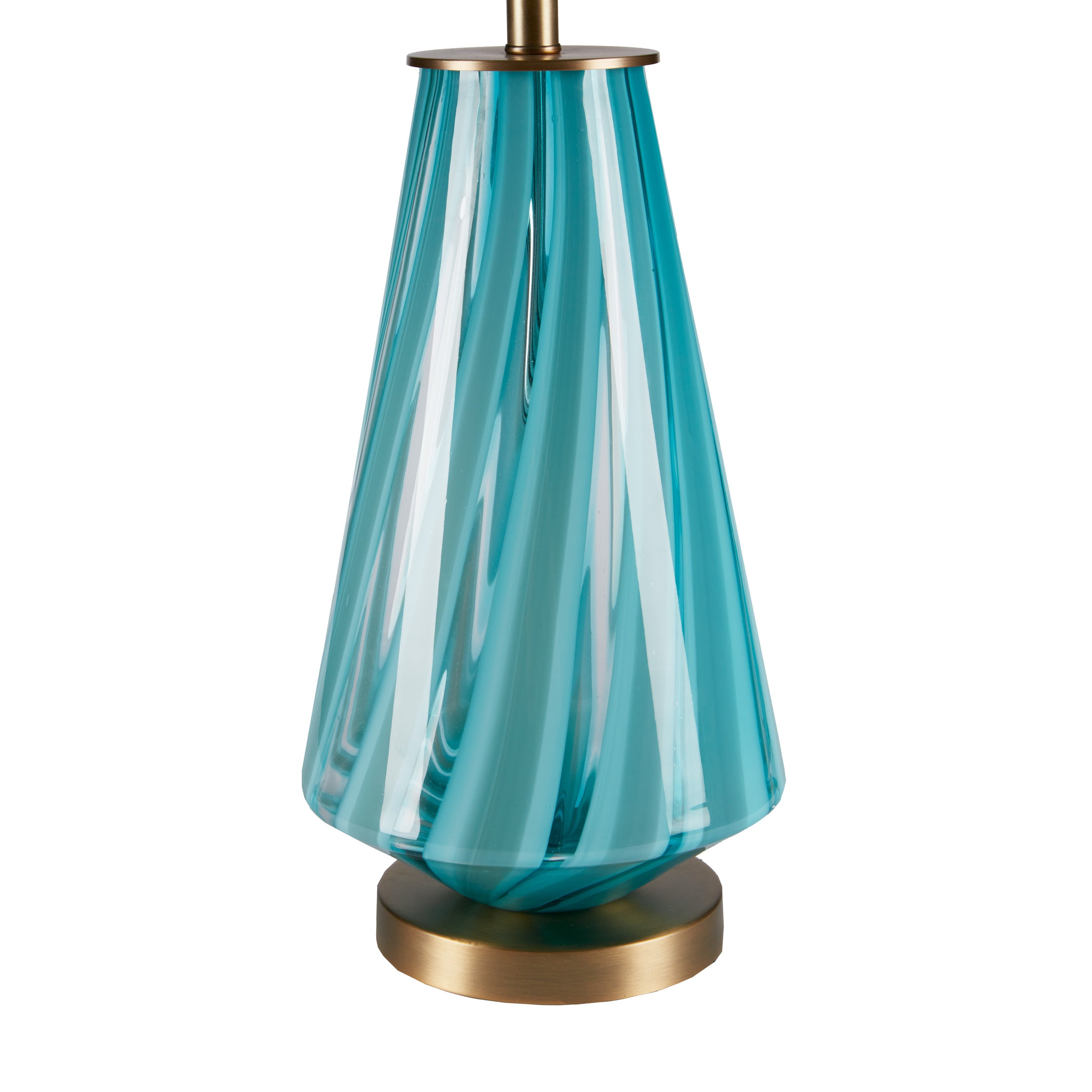 Shop Ink Ivy Waves Blue Glass Table Lamp Free Shipping Today