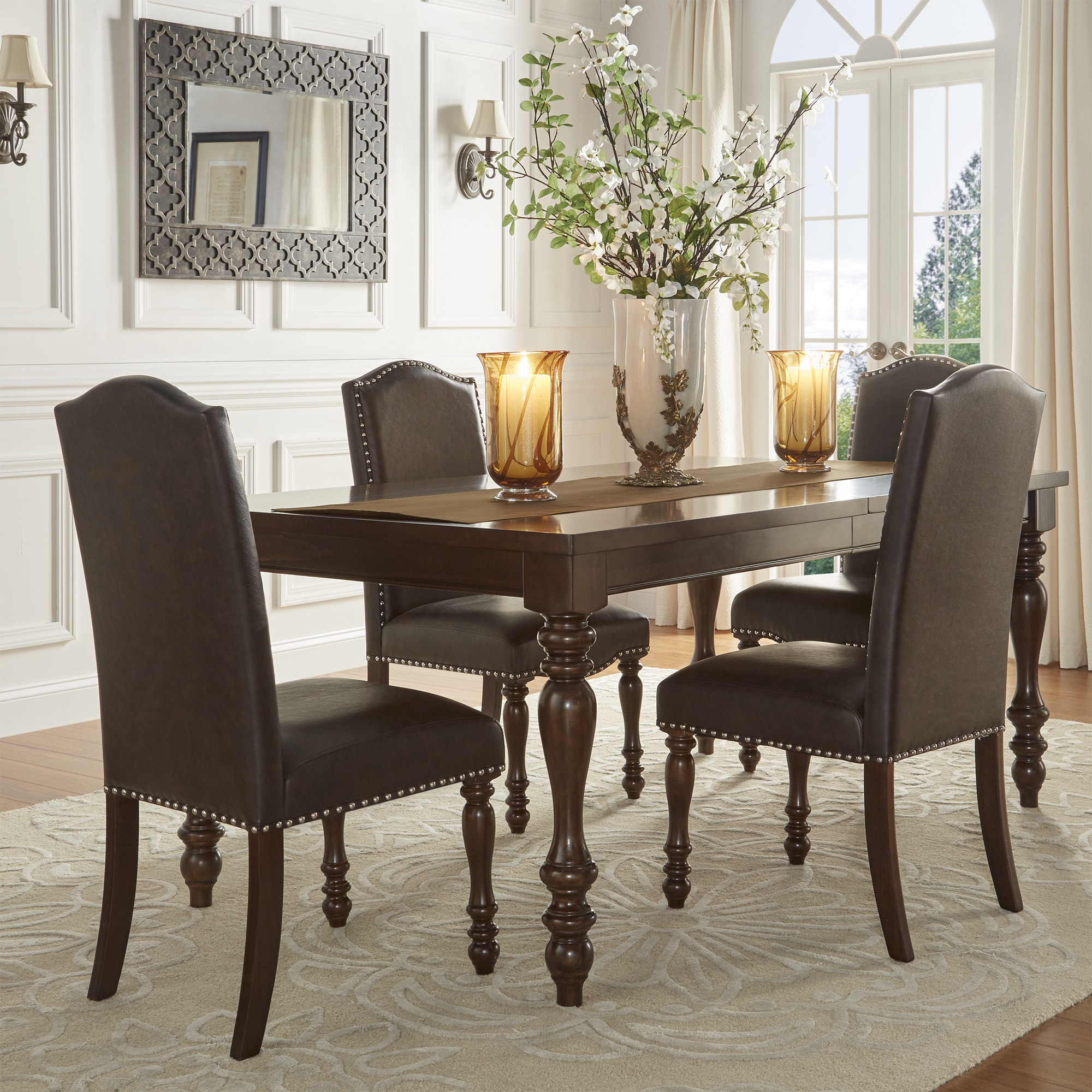 Parisian Rectangular Extending Dining Table By INSPIRE Q Classic   Free  Shipping Today   Overstock.com   19409519