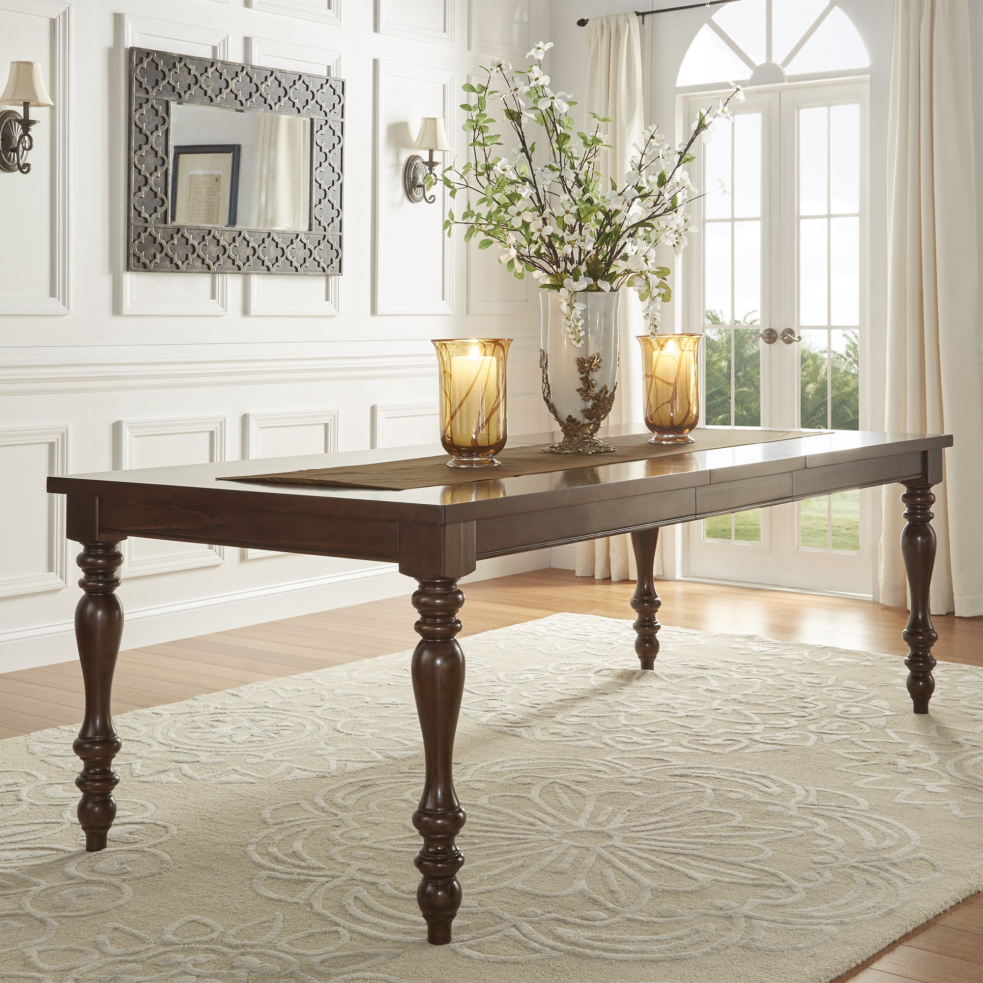 Superb Parisian Rectangular Extending Dining Table By INSPIRE Q Classic   Free  Shipping Today   Overstock   19409519