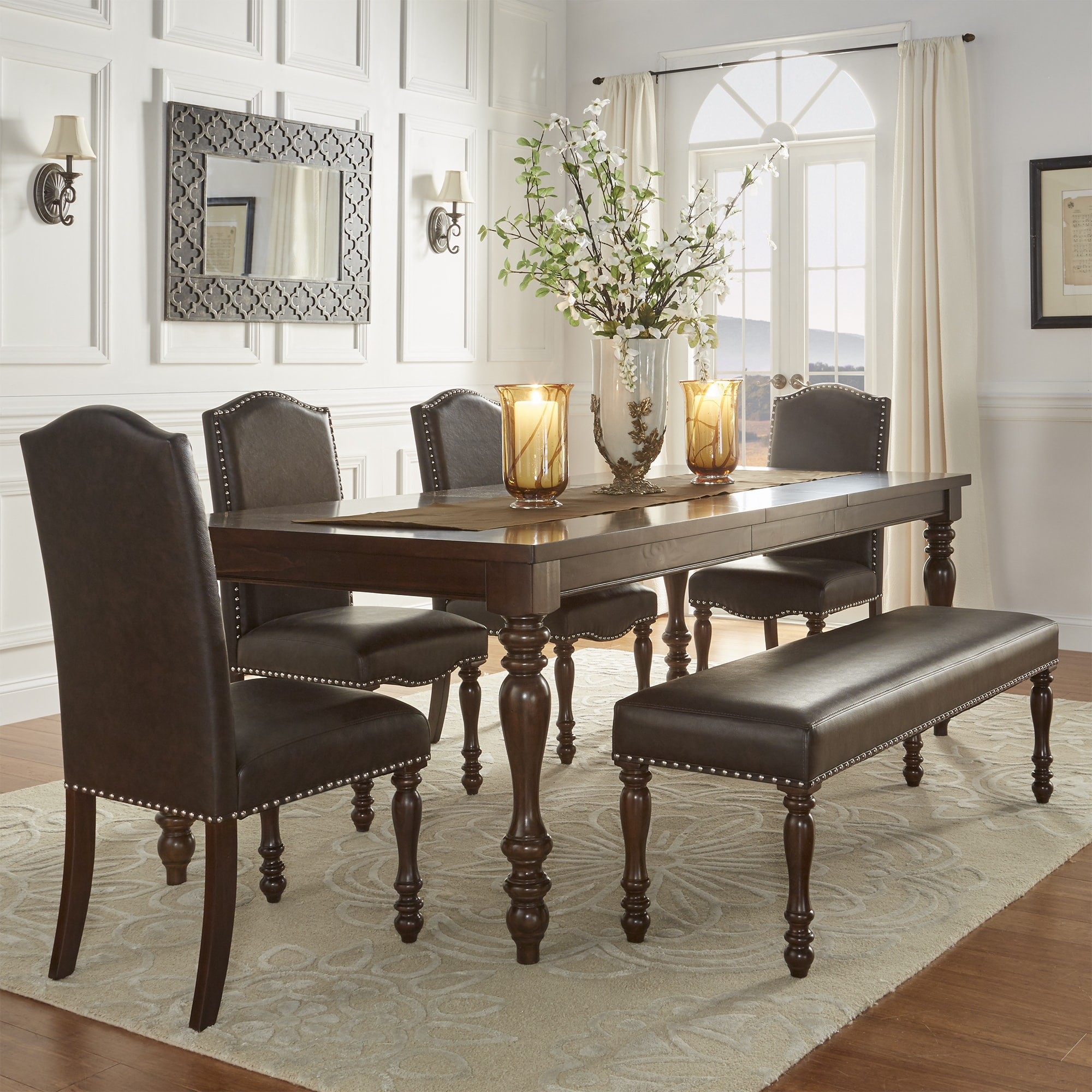 Parisian Rectangular Extending Dining Set By INSPIRE Q Classic   Free  Shipping Today   Overstock.com   19409631