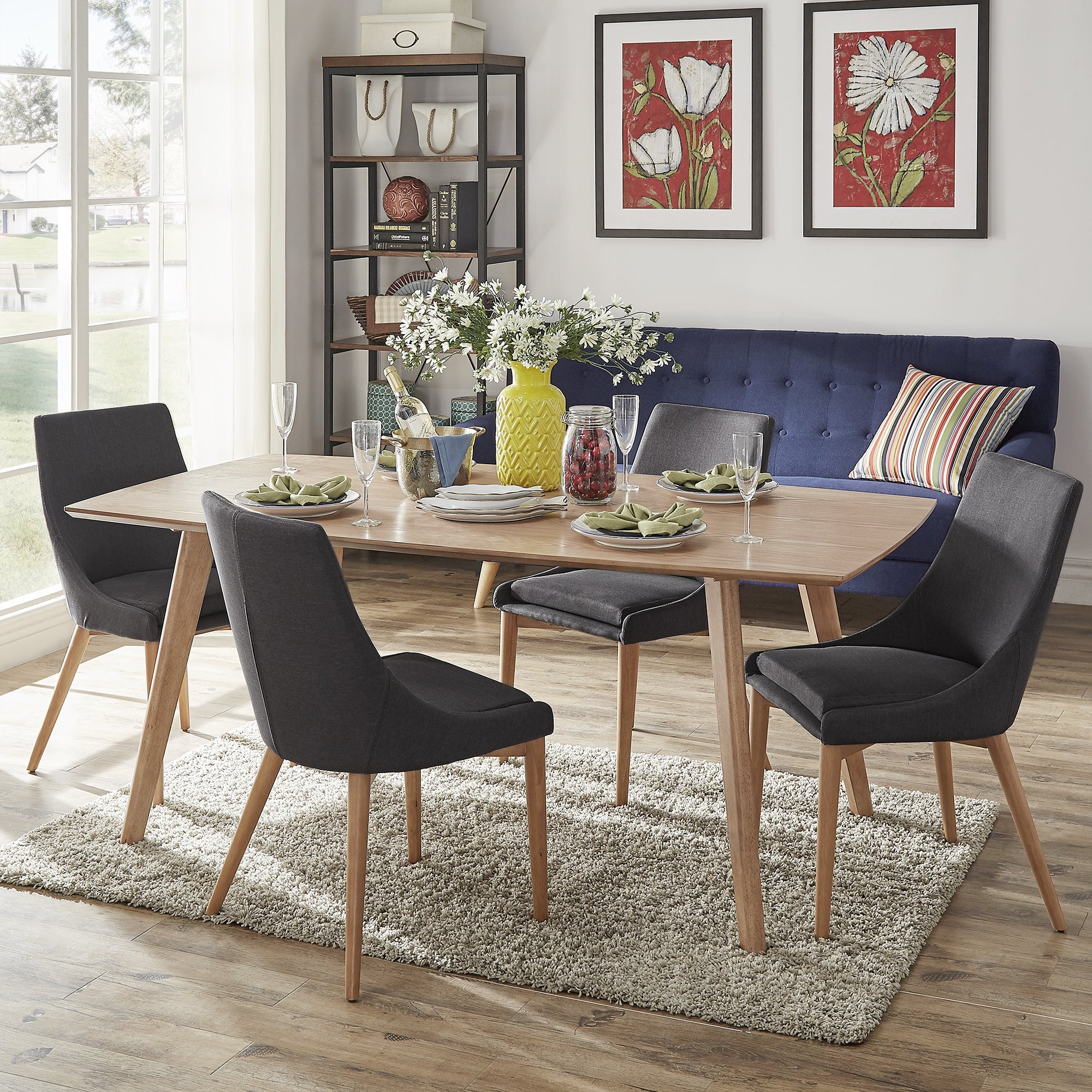 Shop Abelone Scandinavian Dining Table By INSPIRE Q Modern   On Sale   Free  Shipping Today   Overstock.com   12615636