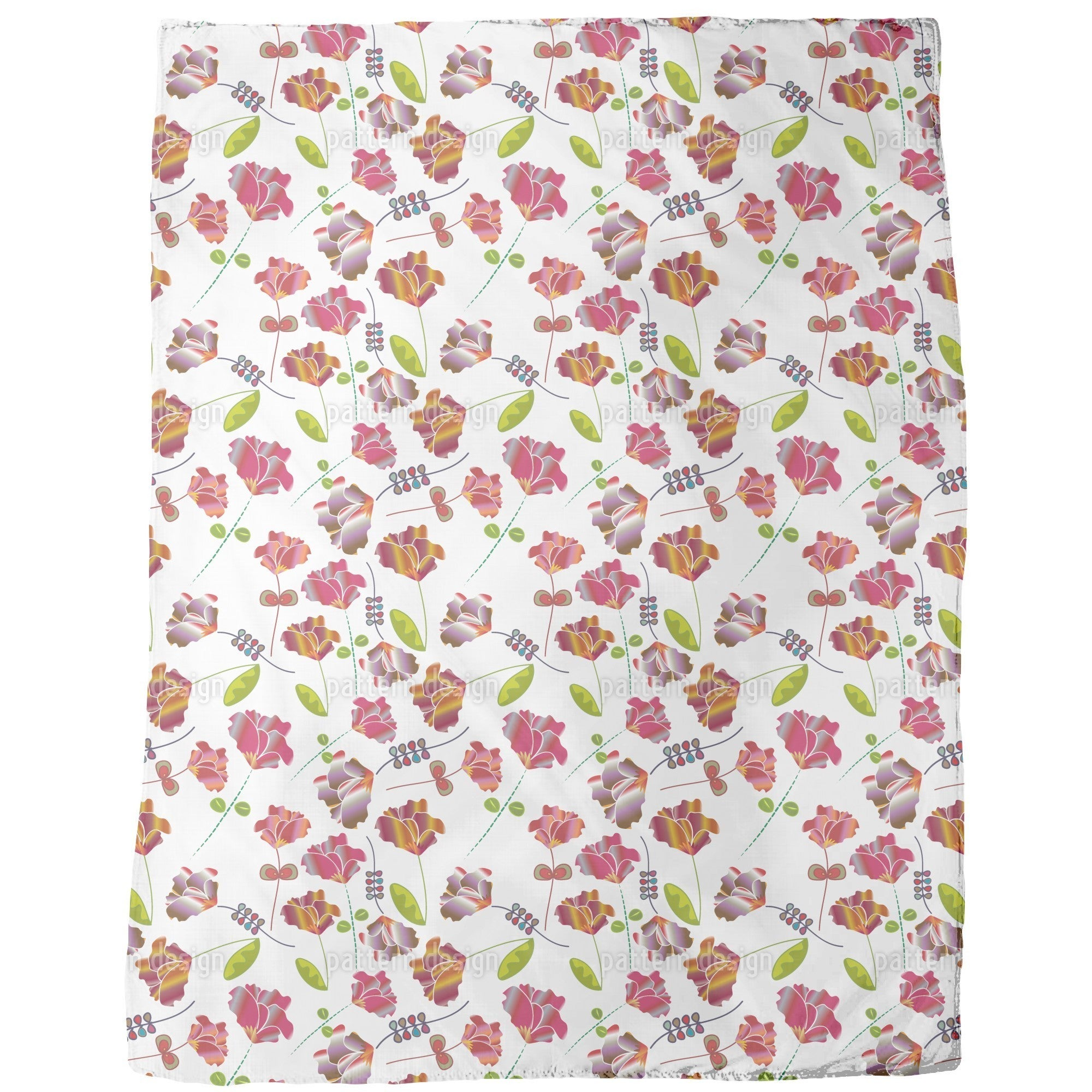 Shop Flowers From Peru White Fleece Blanket Free Shipping Today