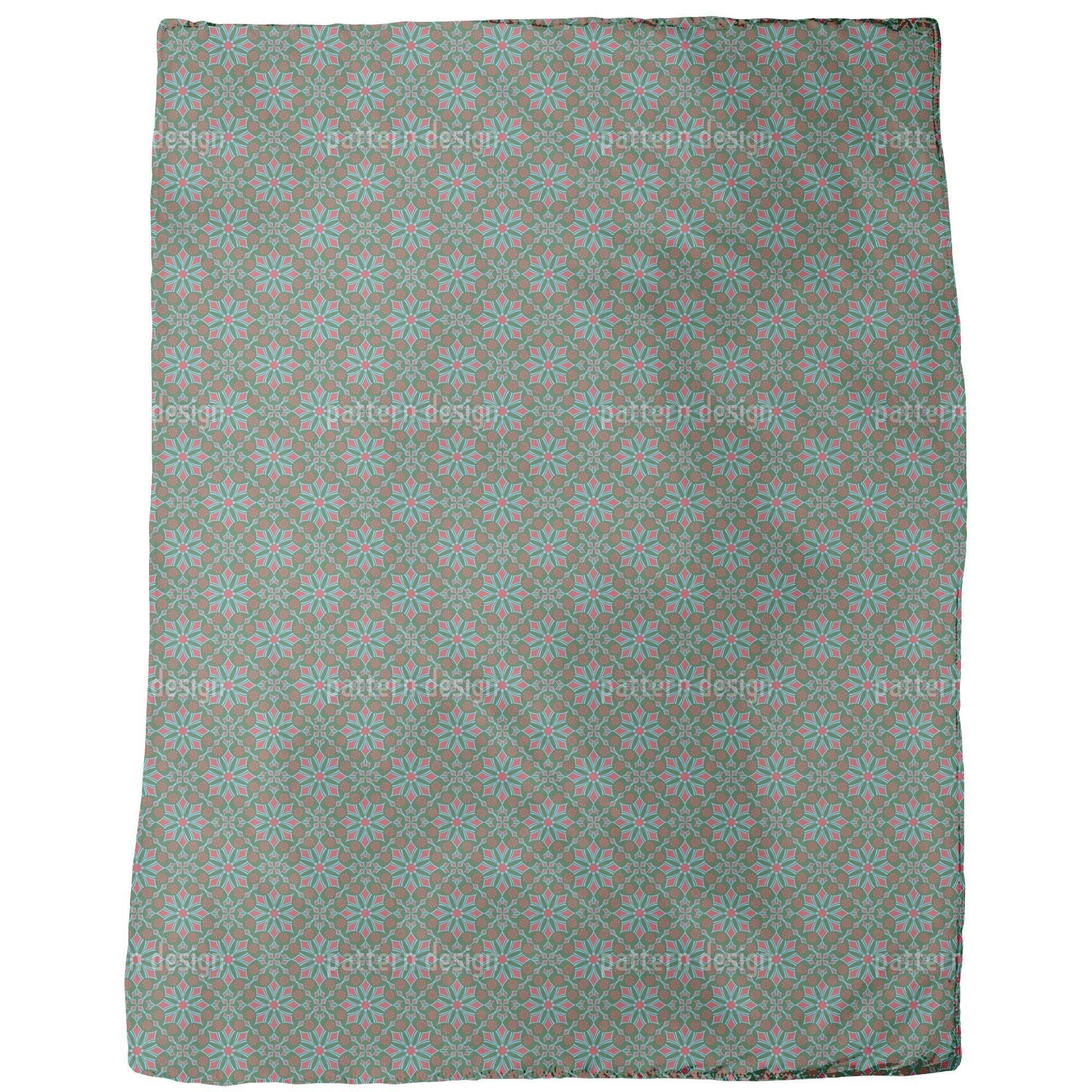 Shop Retro Flowers Fleece Blanket Free Shipping Today Overstock