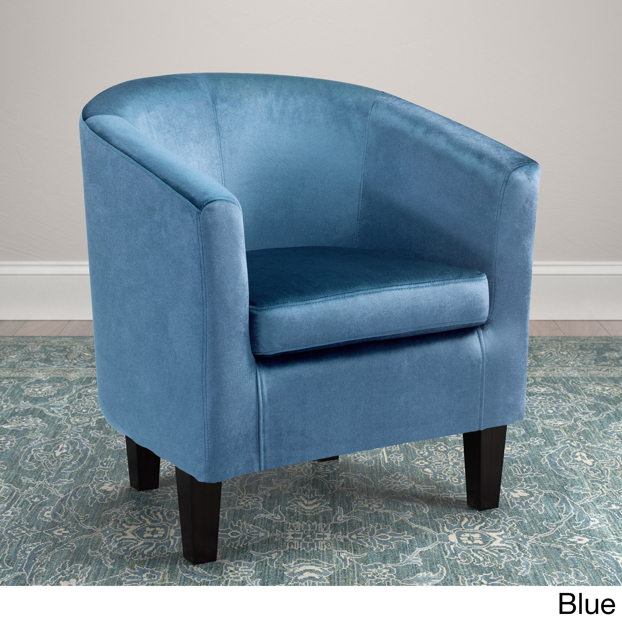 Shop Clay Alder Home Broadway Velvet Upholstered Tub Chair - Free ...