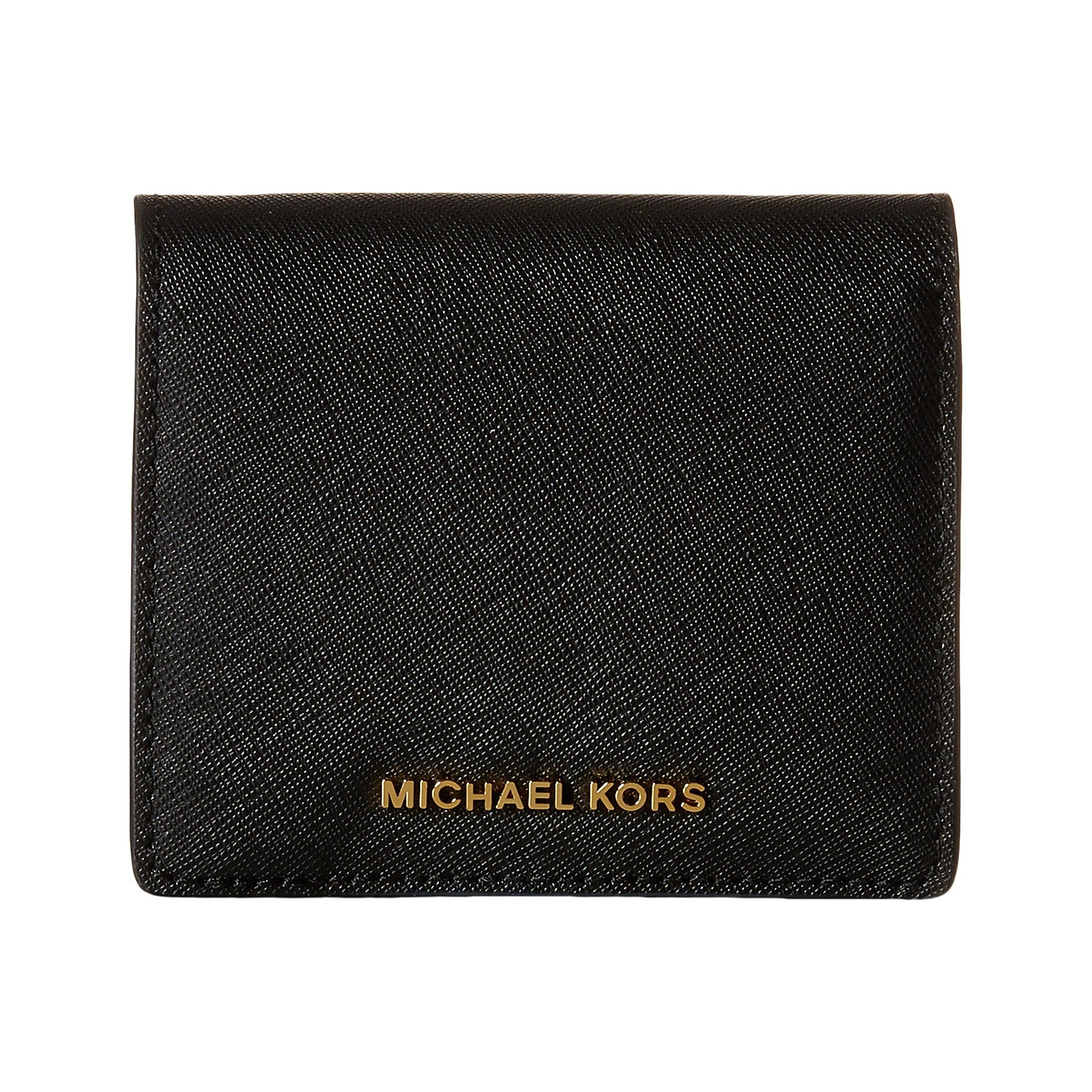 e5ca075a10b6 Shop Michael Kors Jet Set Black Travel Saffiano Leather Card Holder - Free  Shipping Today - Overstock - 12635157