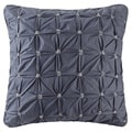 INK+IVY Jane Navy Cotton Embroidered Euro Sham