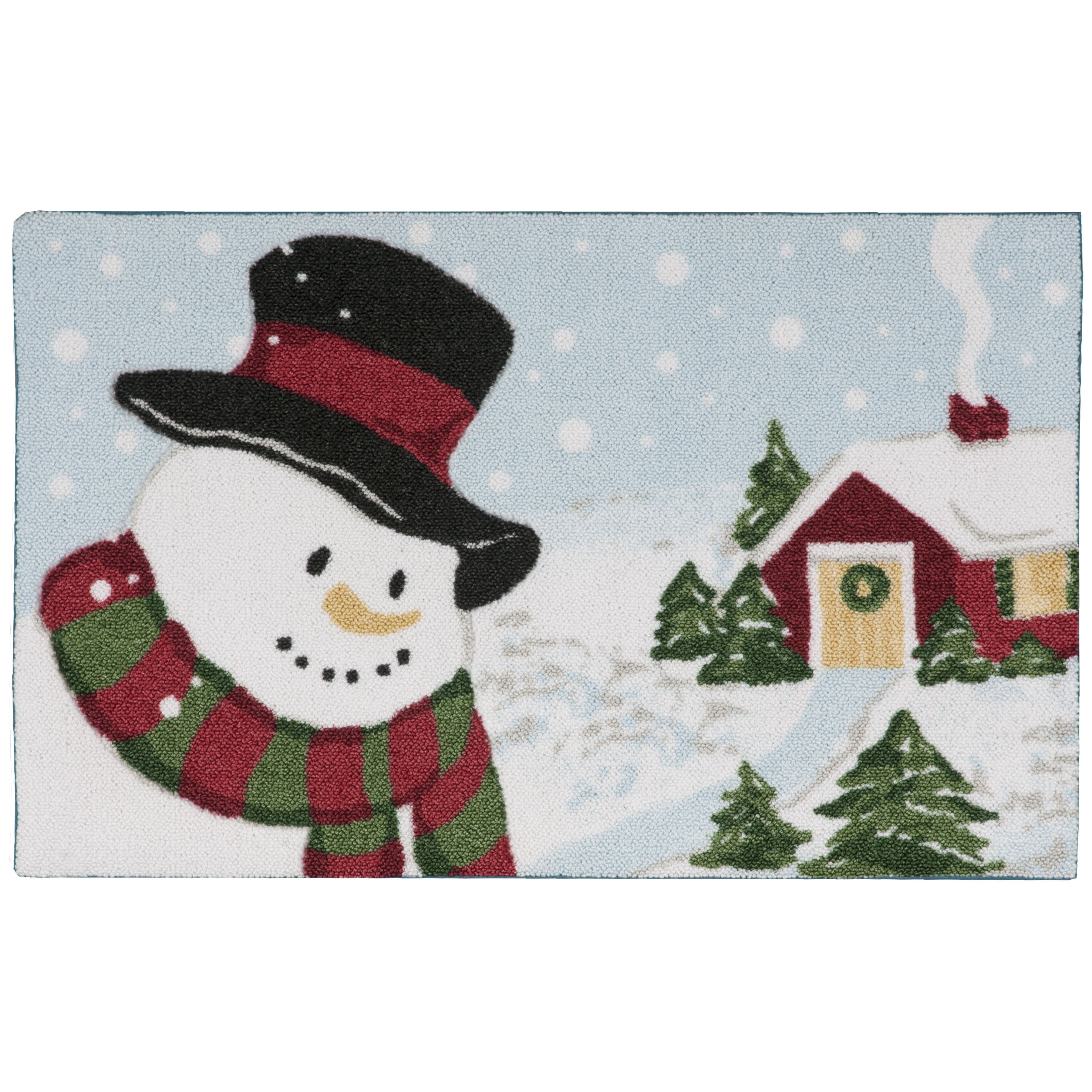 Shop kathy ireland Once Upon a Christmas Light Blue Accent Rug - On ...