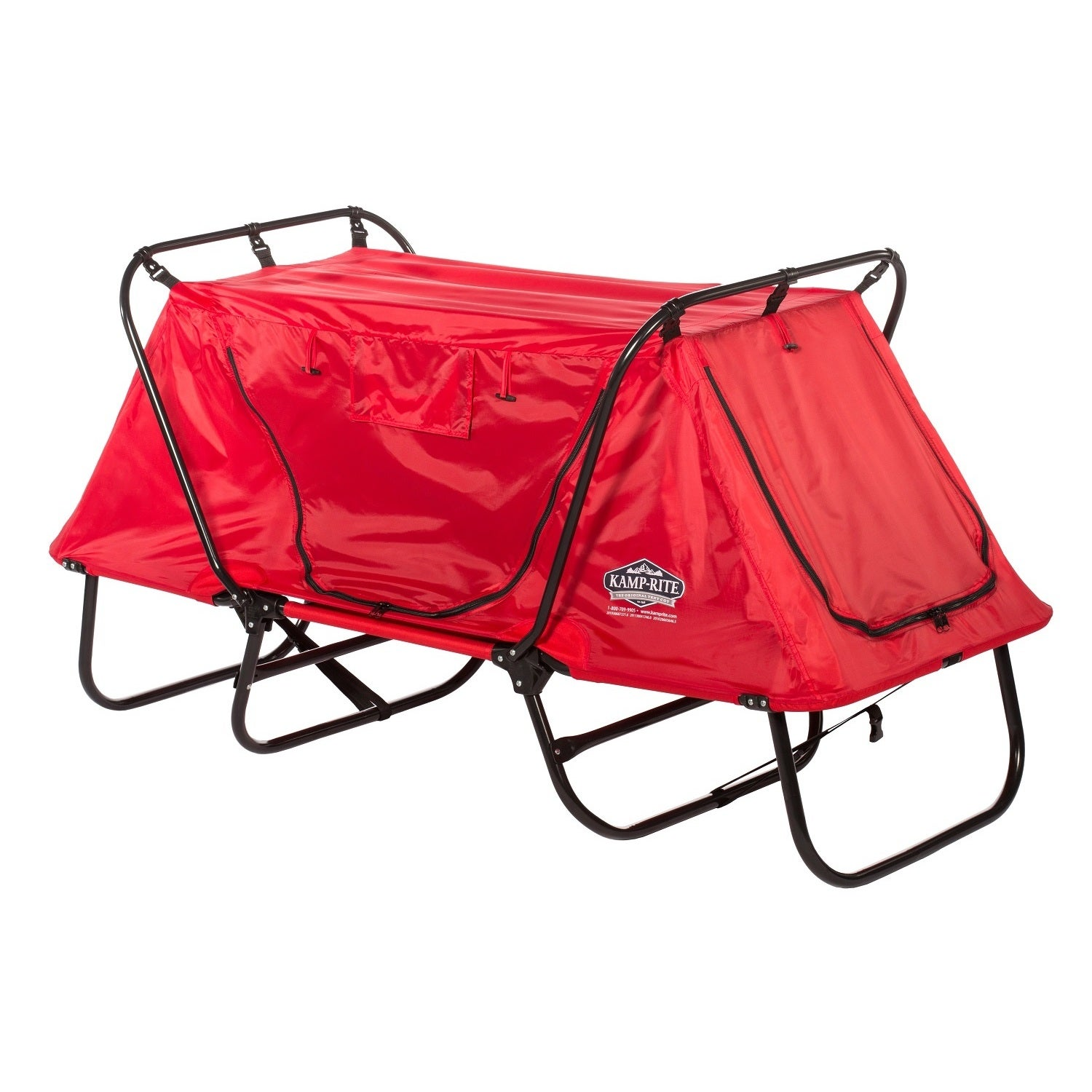 K&-Rite Red Kidu0027s Tent Cot With Rain Fly - Free Shipping Today - Overstock.com - 19427774  sc 1 st  Overstock & Kamp-Rite Red Kidu0027s Tent Cot With Rain Fly - Free Shipping Today ...