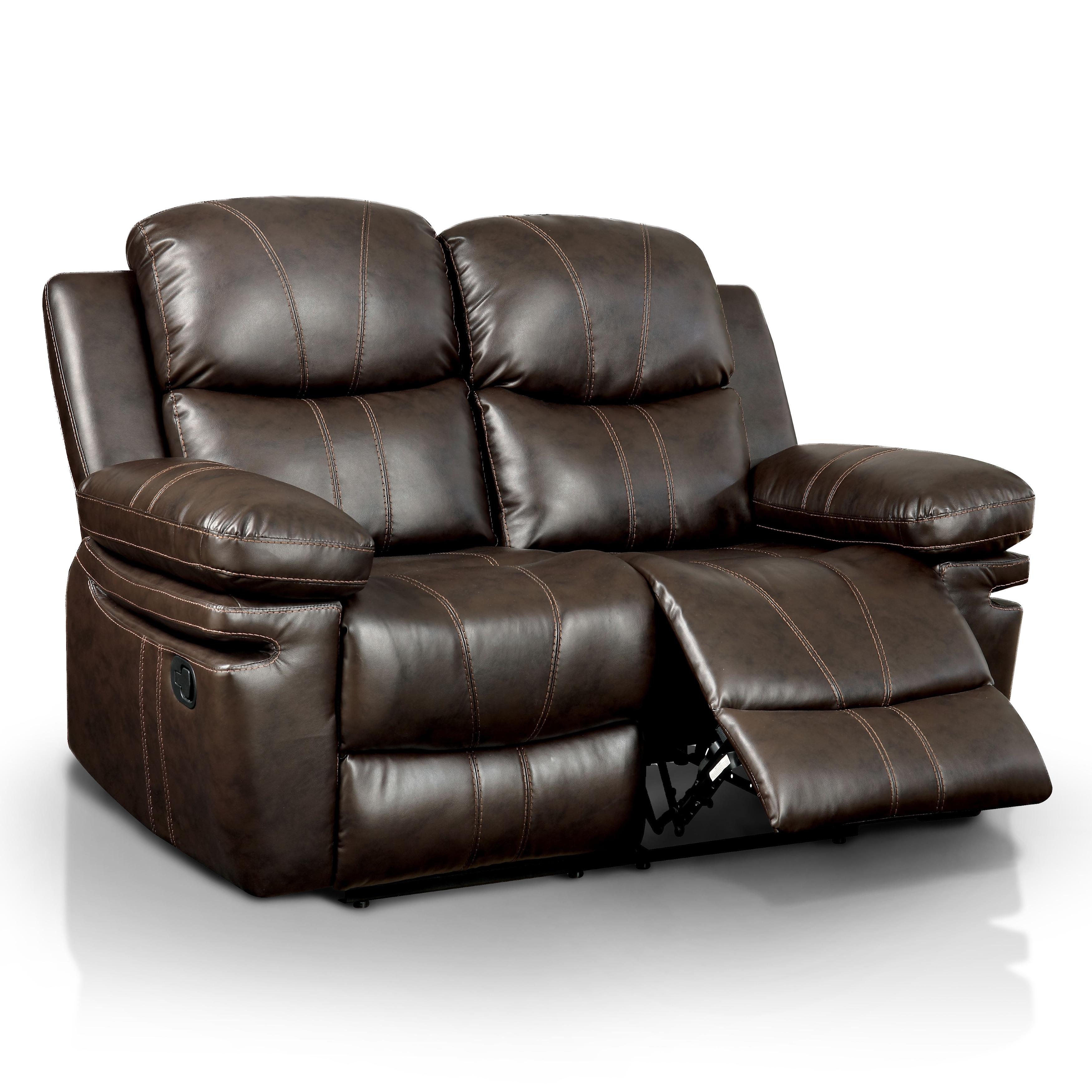 Furniture of America Ellister Transitional 3 Piece Brown Bonded
